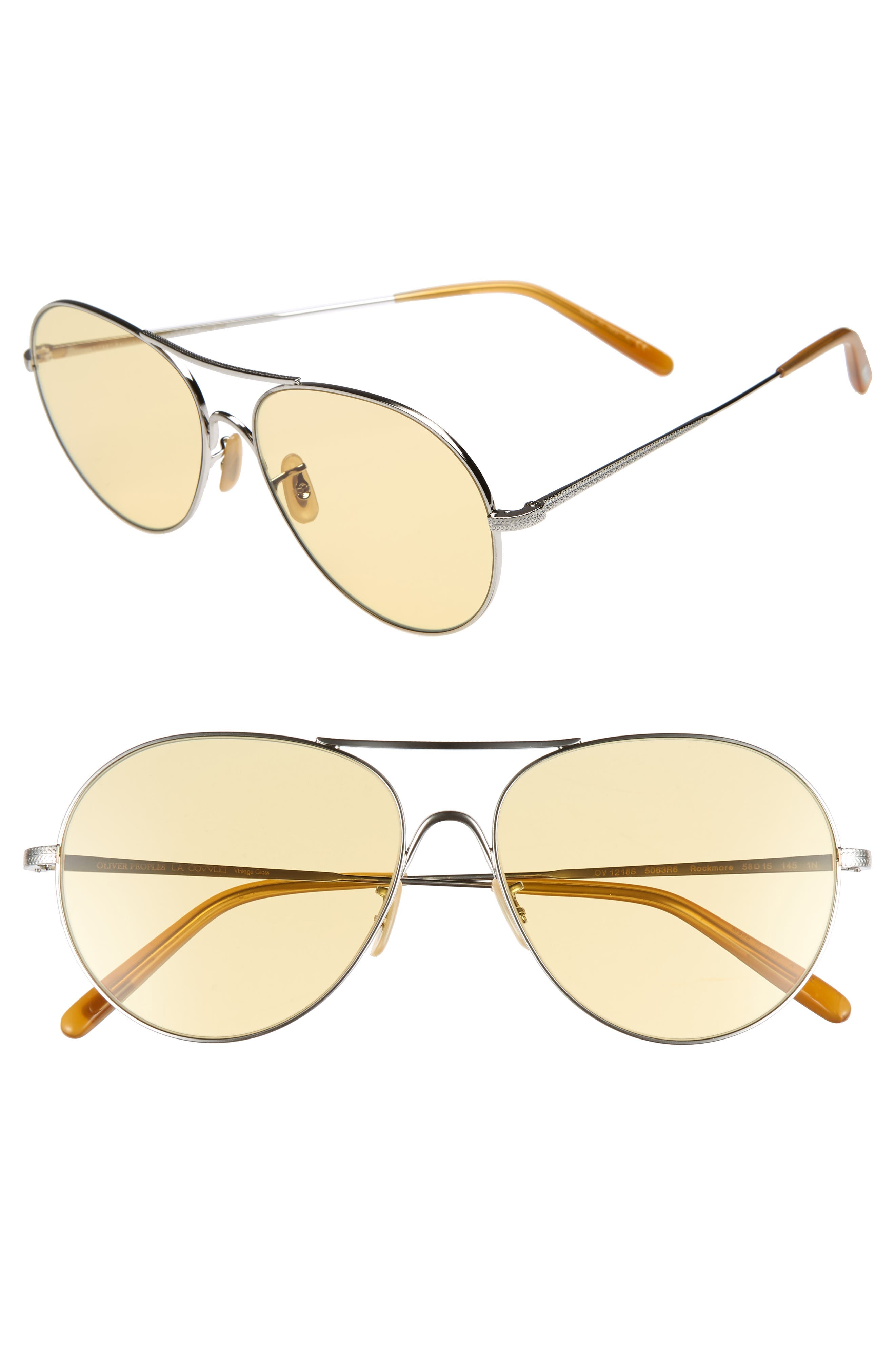 Rockmore 58mm Aviator Sunglasses,                             Main thumbnail 1, color,                             SILVER