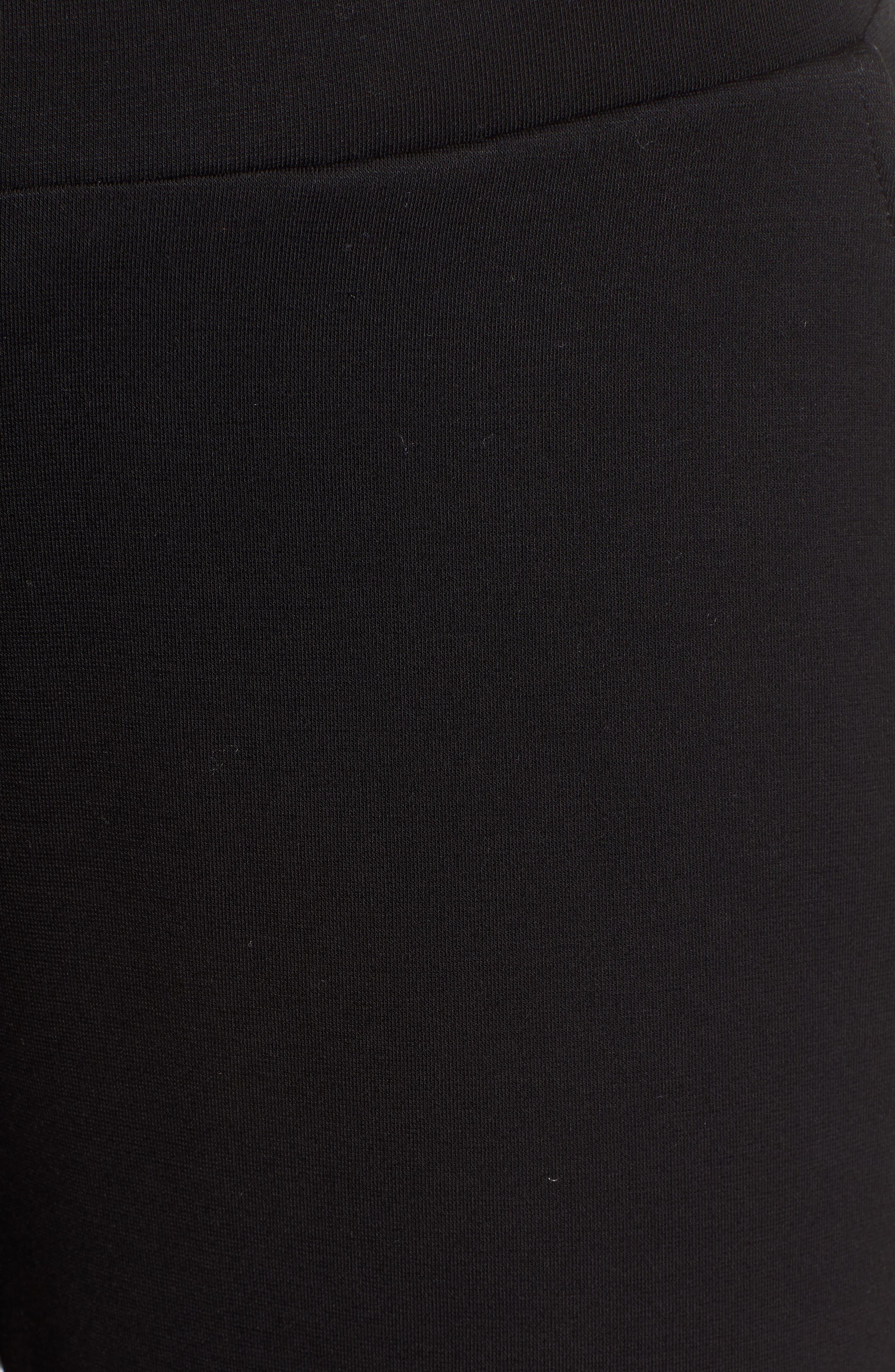 x Living in Yellow Shirley Ponte Jogger Pants,                             Alternate thumbnail 6, color,                             BLACK