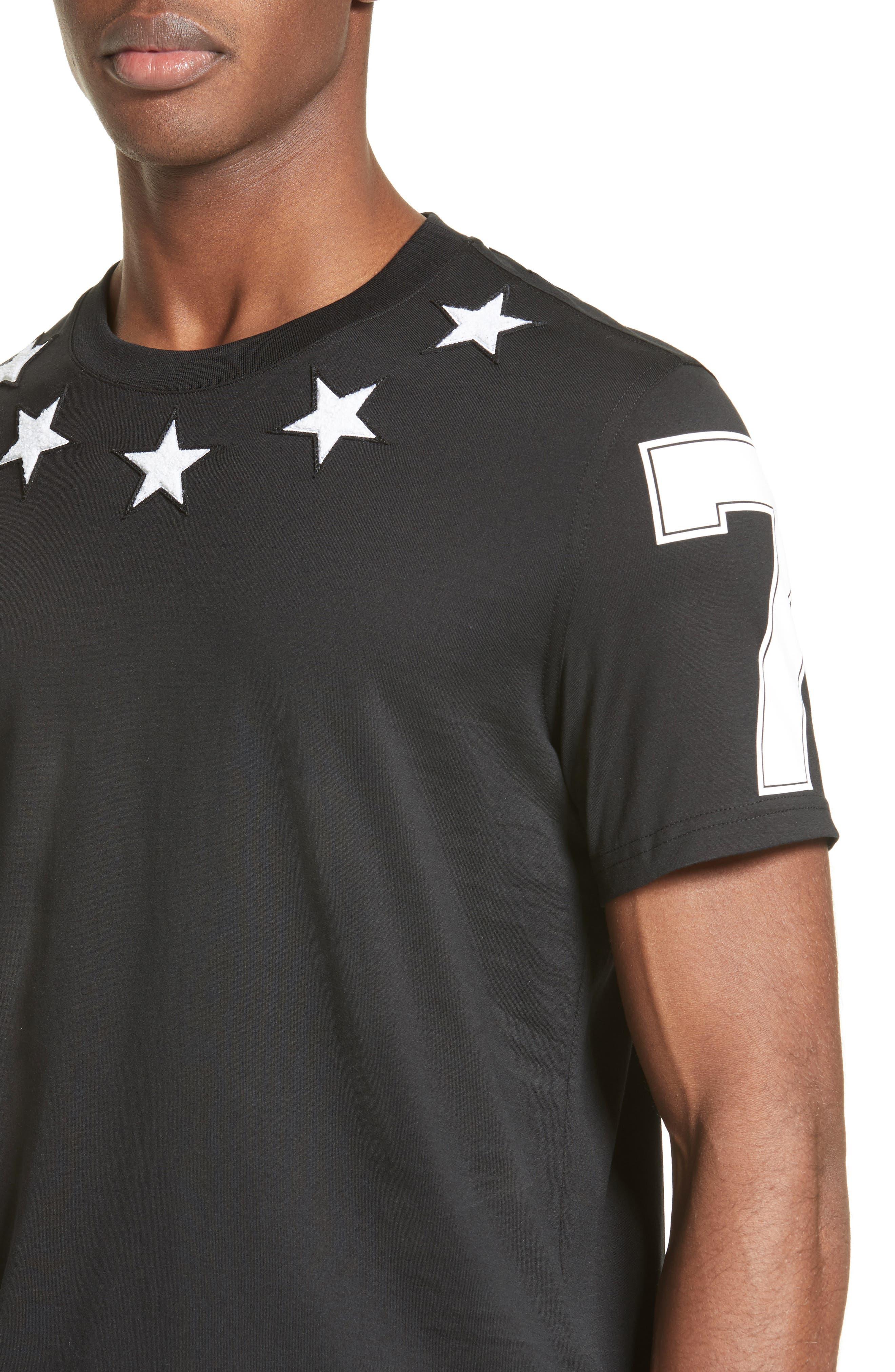 Star 74 T-Shirt,                             Alternate thumbnail 4, color,                             001
