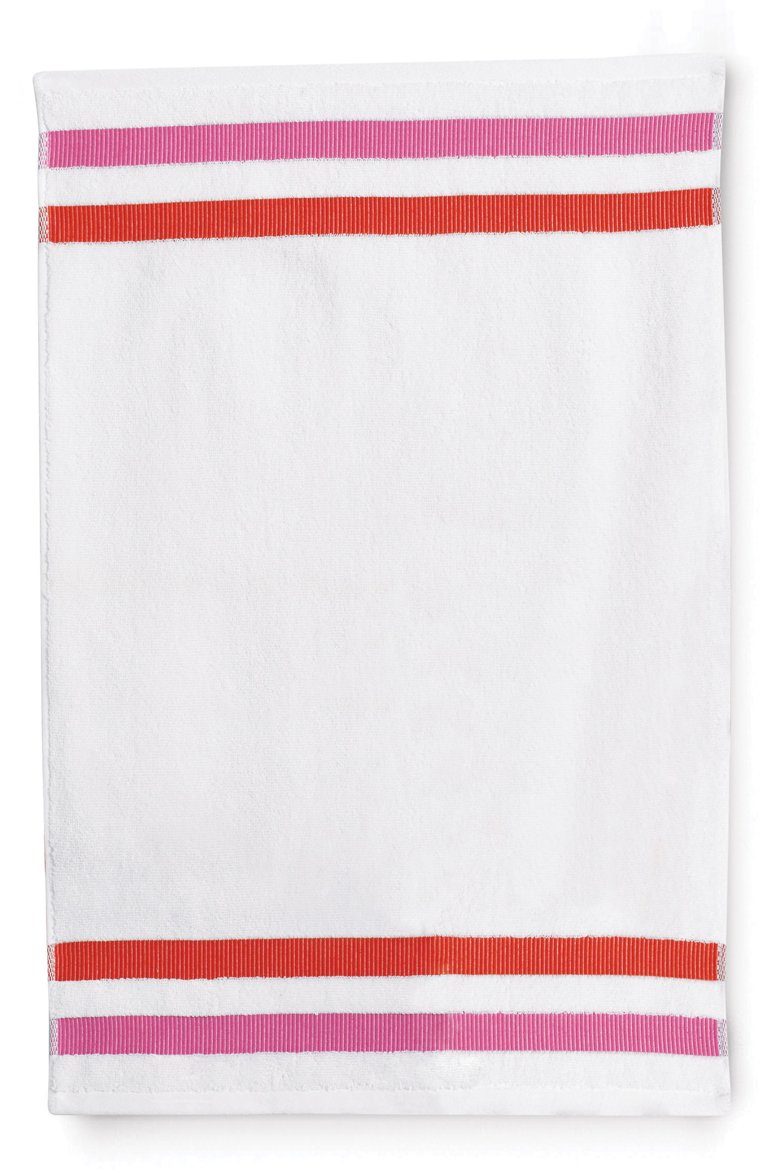 grosgrain stripe fingertip towel,                             Main thumbnail 1, color,                             100