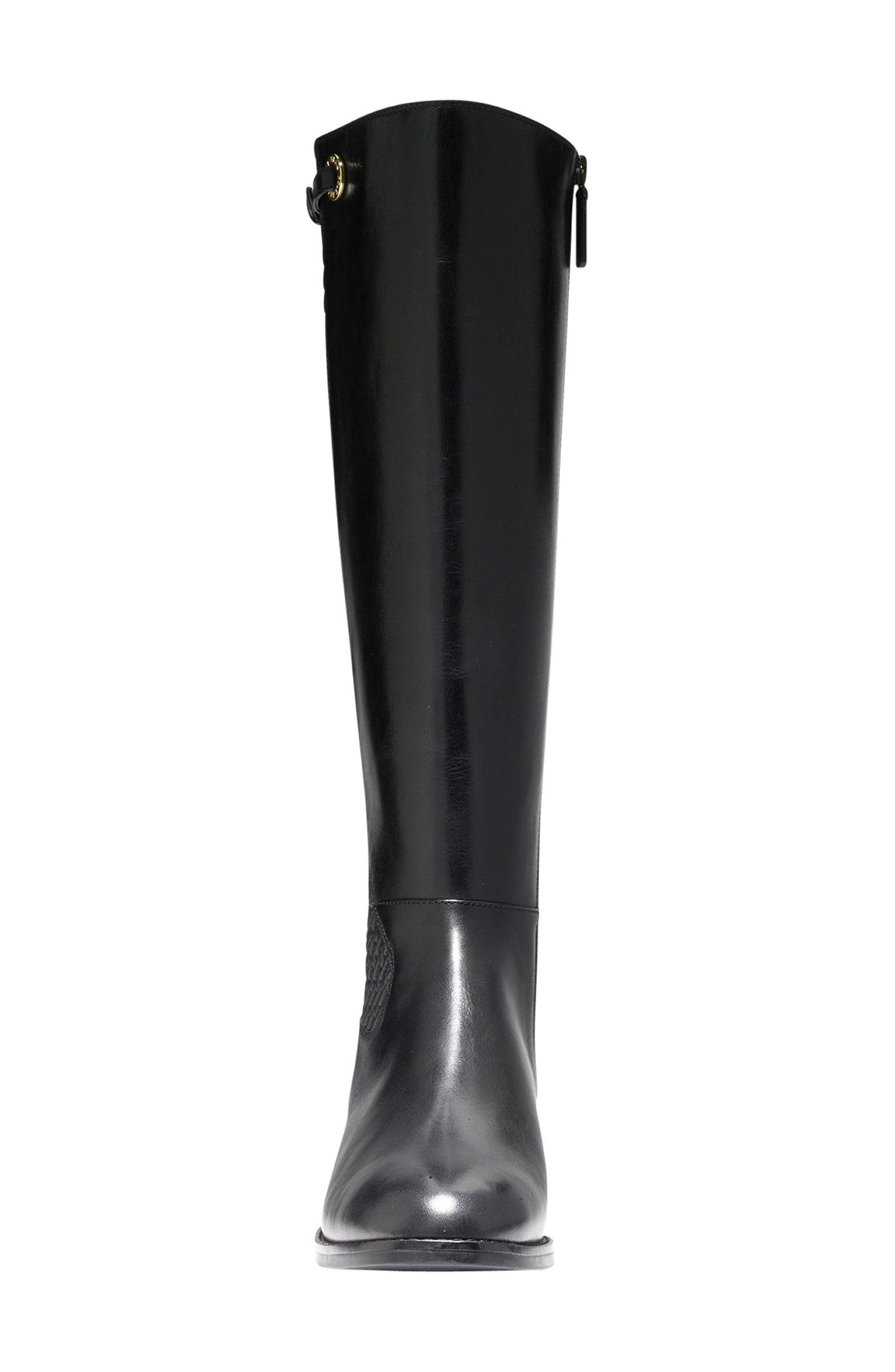 Simona Tall Boot,                             Alternate thumbnail 4, color,                             001