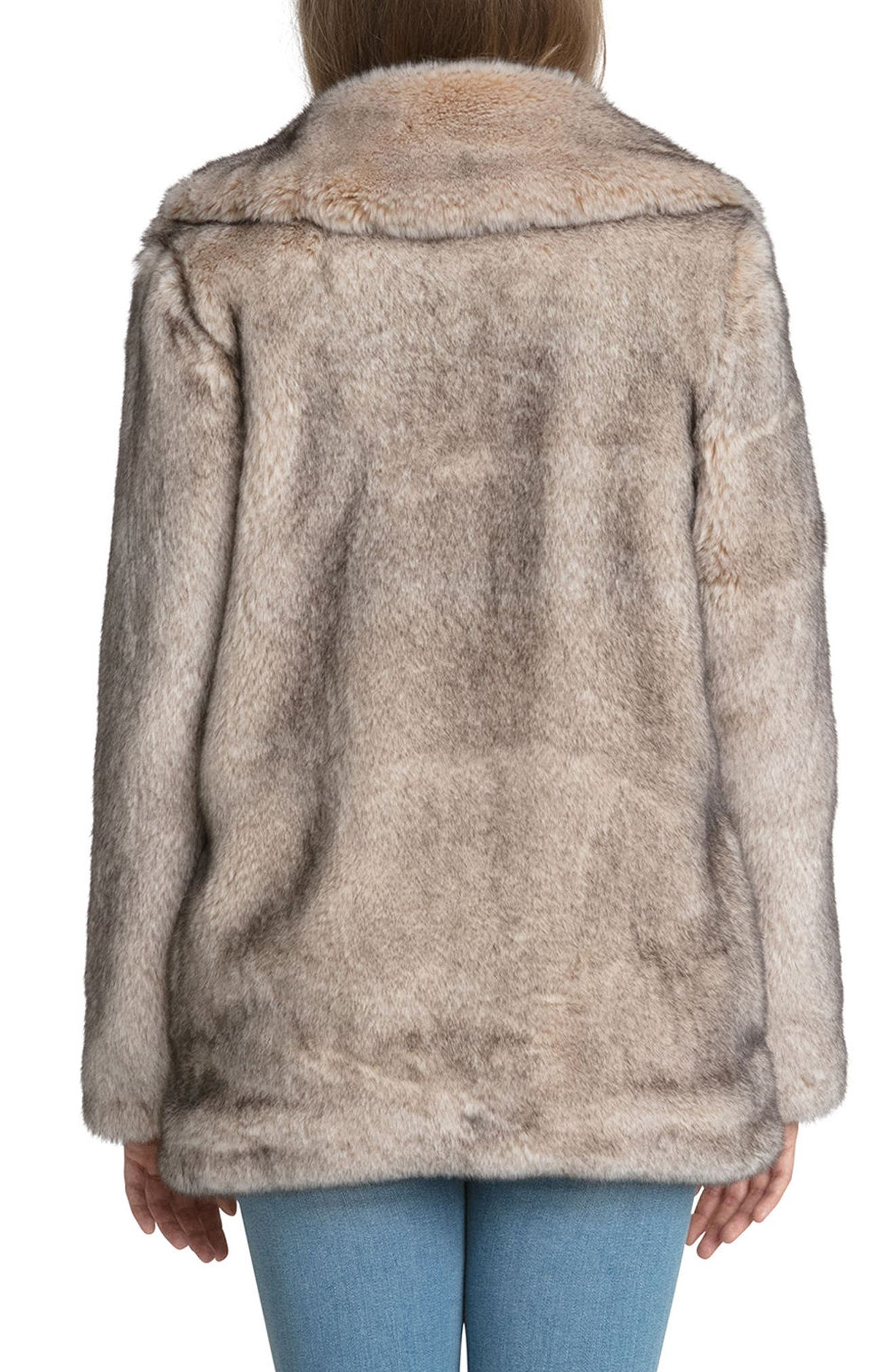 Faux Fur Swing Coat,                             Alternate thumbnail 2, color,                             257