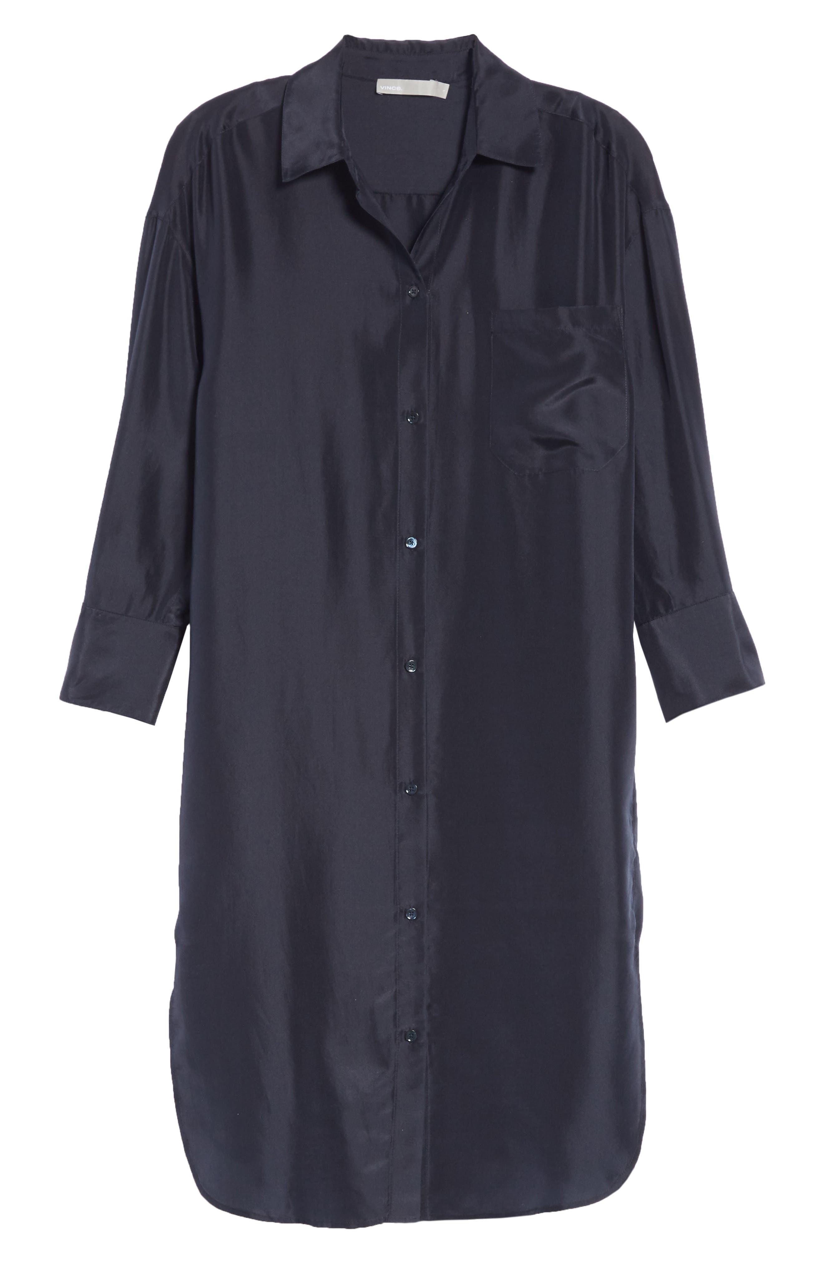Silk Shirtdress,                             Alternate thumbnail 7, color,                             403