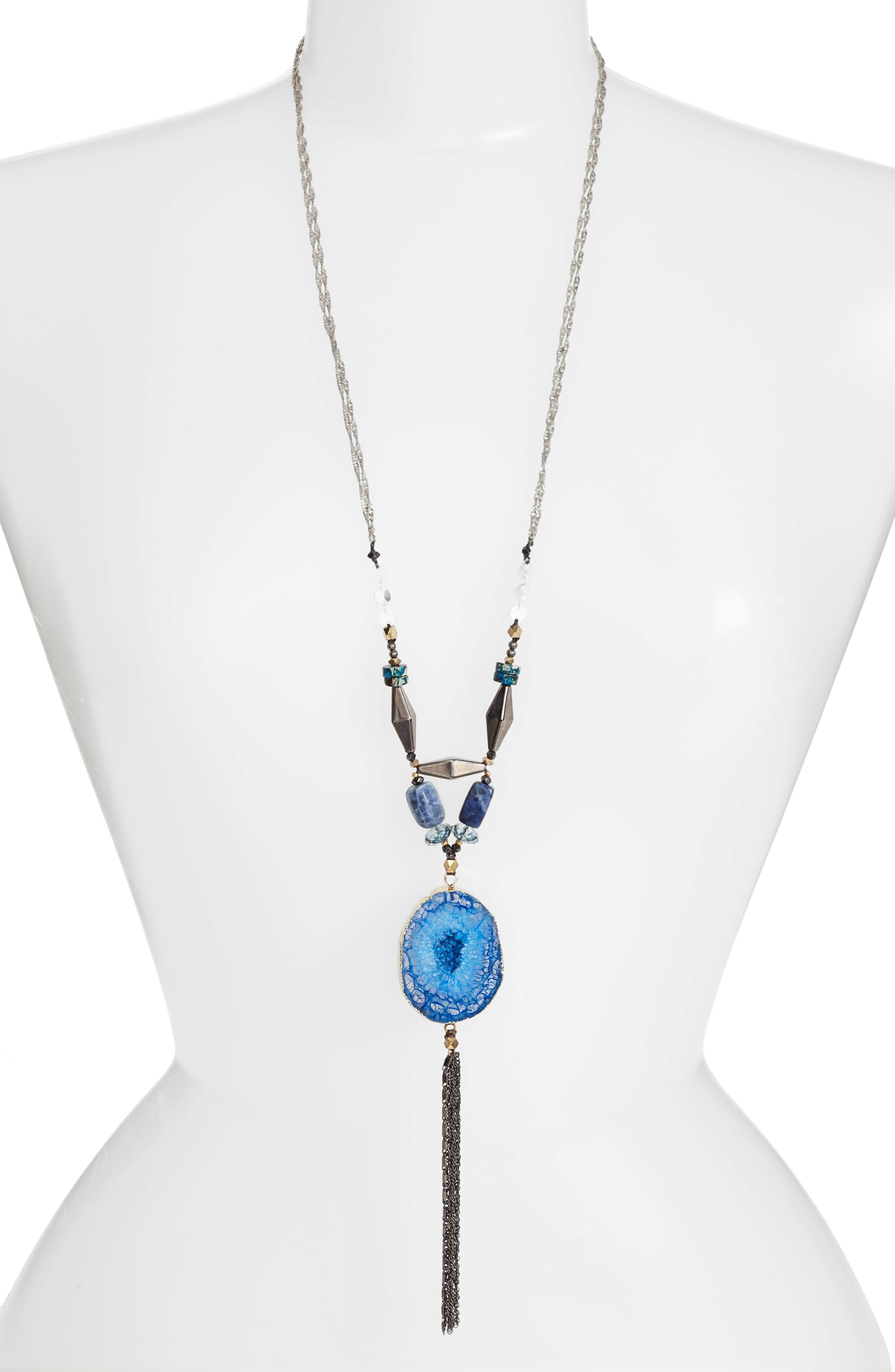 Stone Pendant Necklace,                             Main thumbnail 1, color,                             400