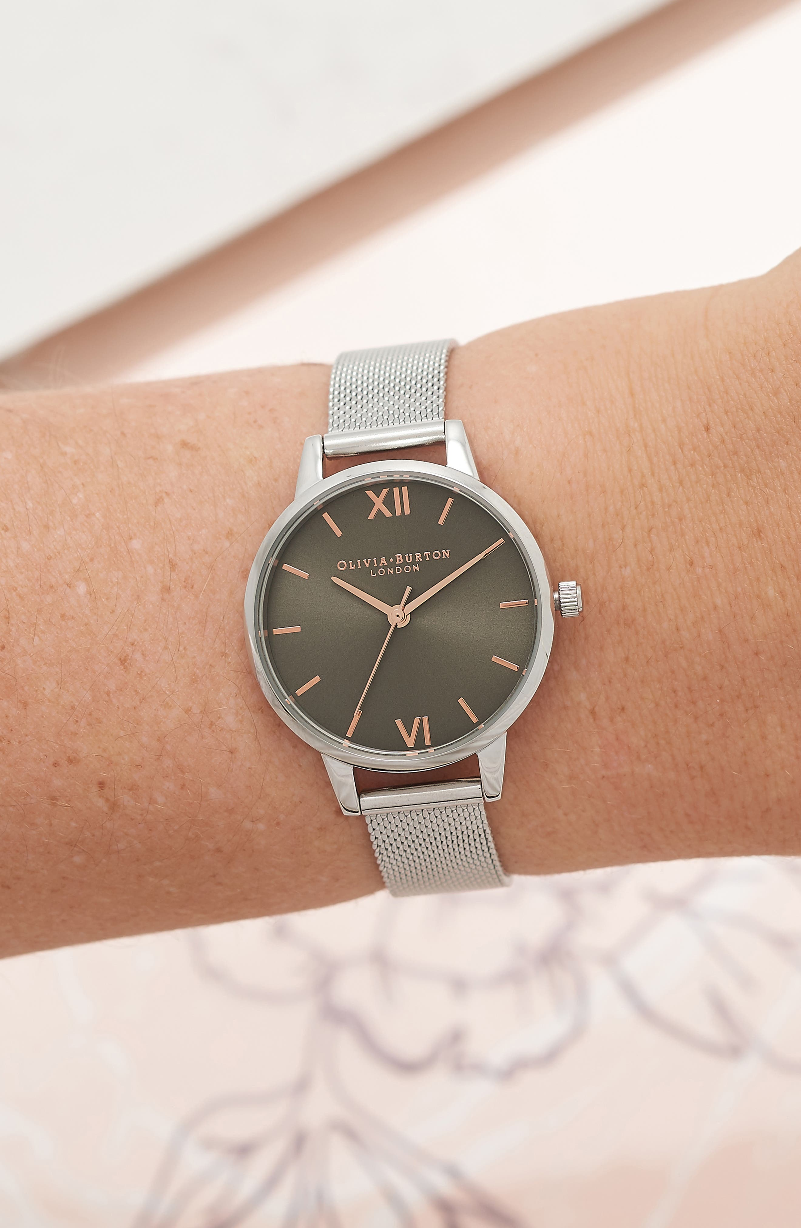Round Mesh Strap Watch, 30mm,                             Alternate thumbnail 2, color,