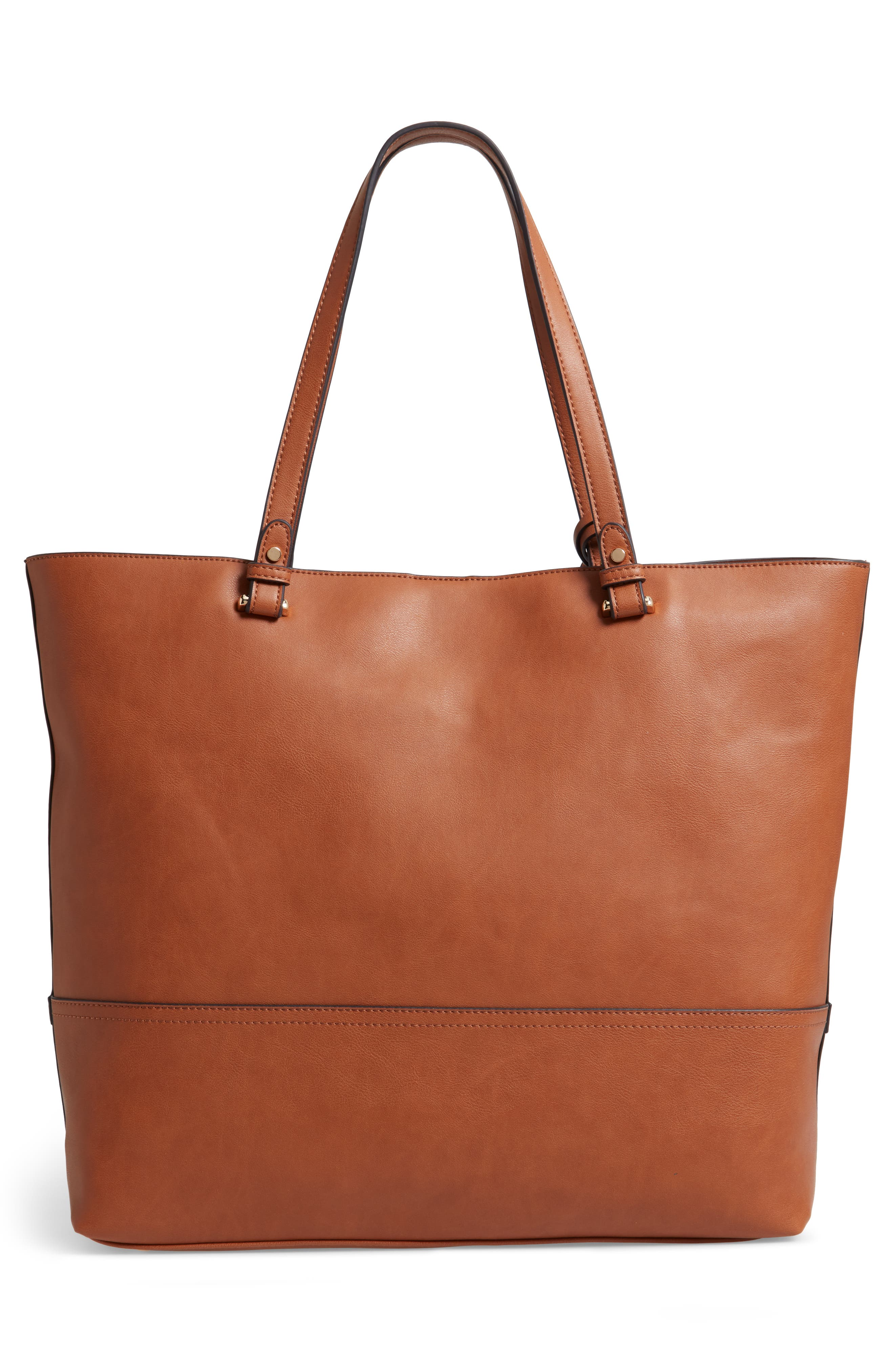 Oversize Faux Leather Tote,                             Alternate thumbnail 3, color,                             230