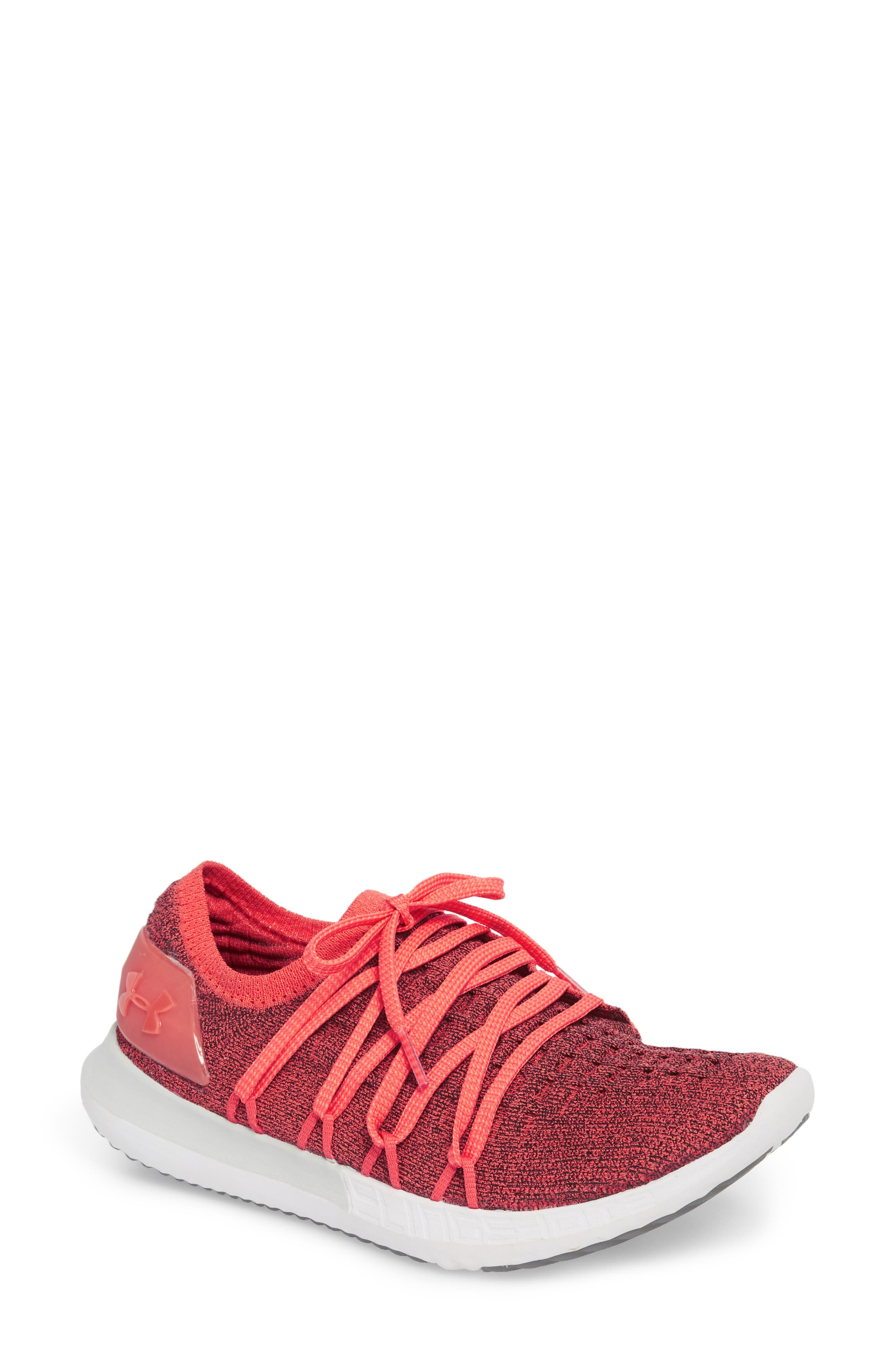SpeedForm<sup>®</sup> Slingshot 2 Running Shoe,                         Main,                         color, VERMILLION/ BLACK