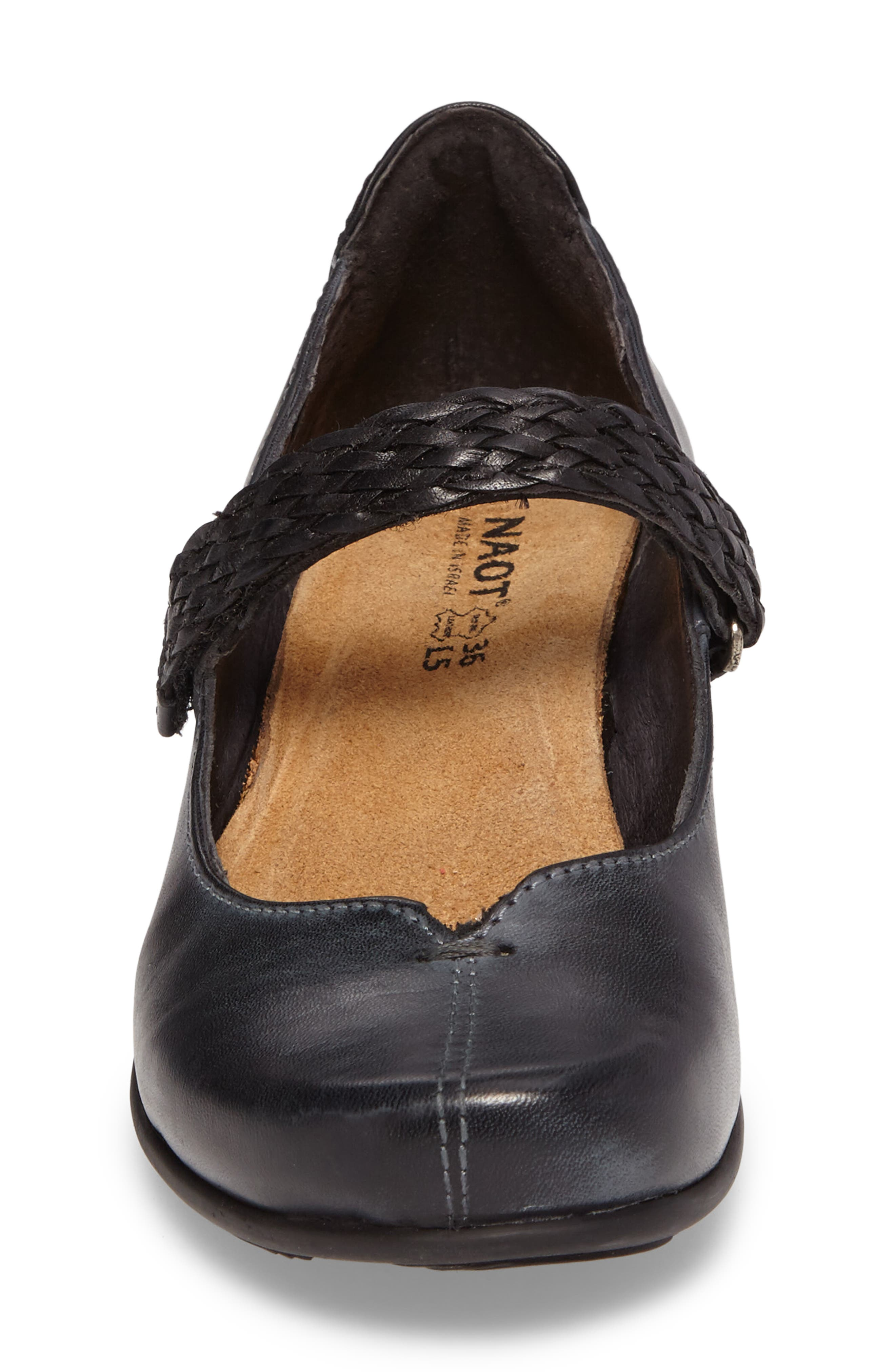 Forward Mary Jane Pump,                             Alternate thumbnail 4, color,                             VINTAGE ASH LEATHER