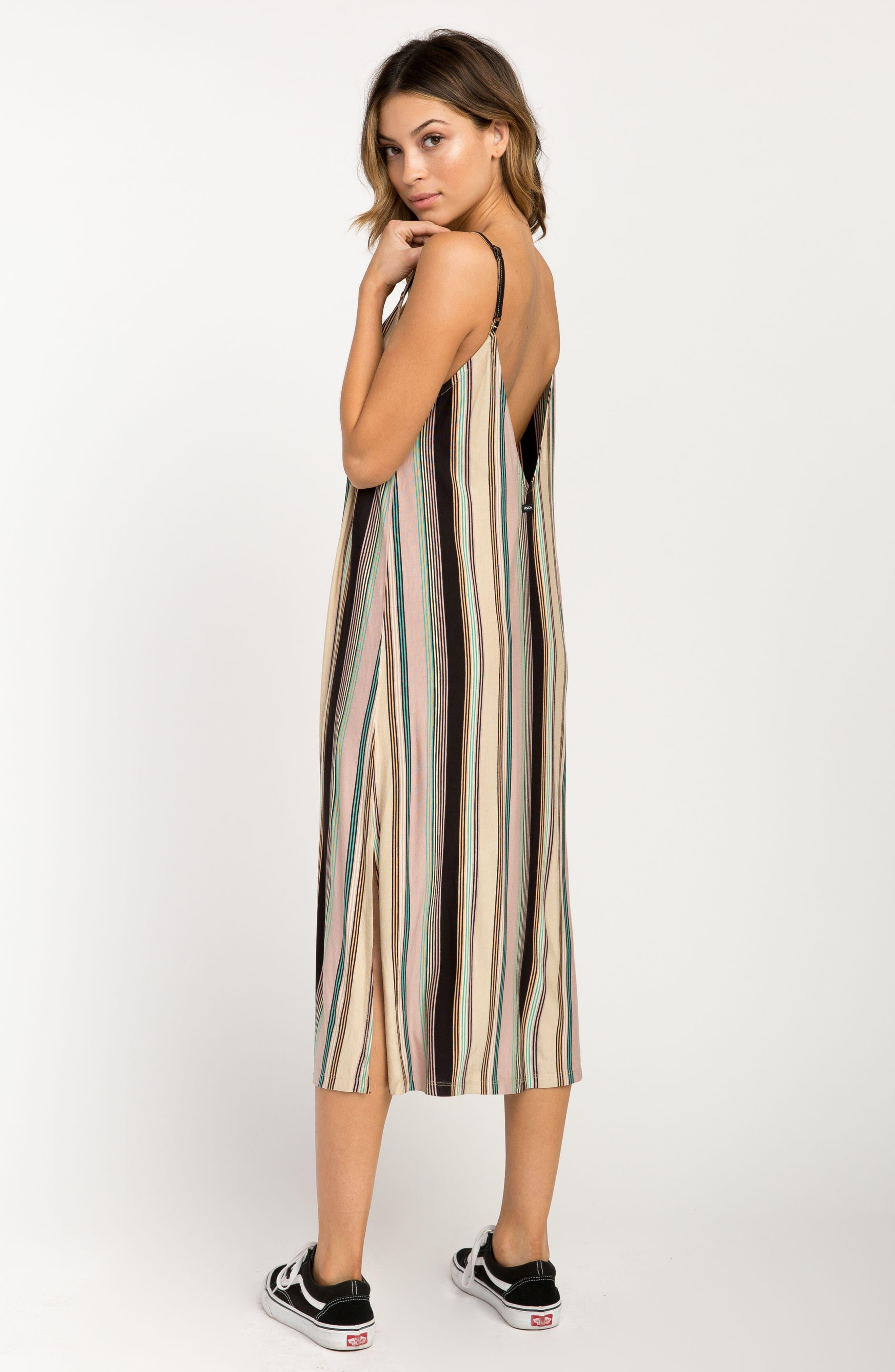 Jasmine Stripe Midi Dress,                             Alternate thumbnail 4, color,