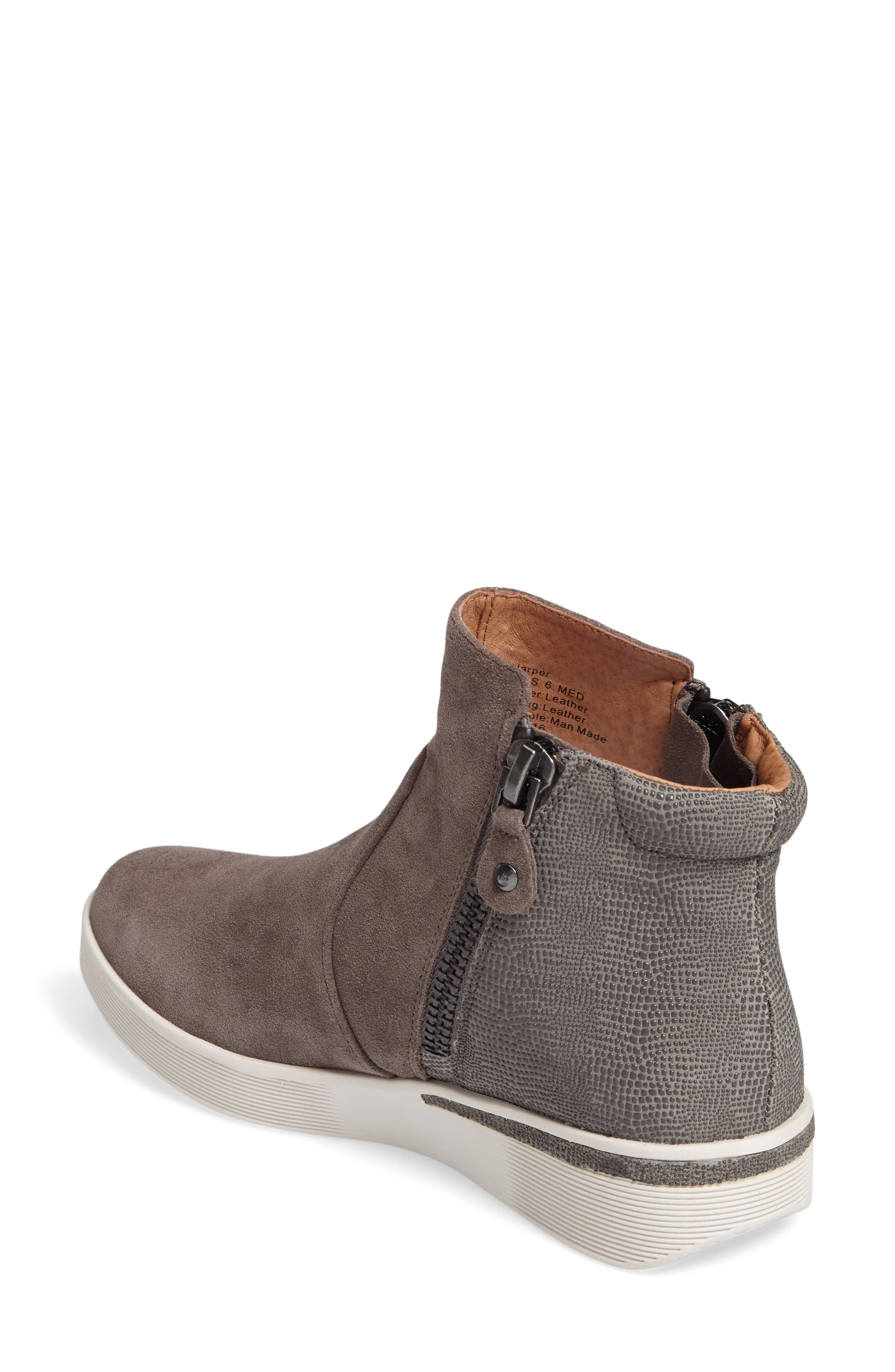 'Harper' Sneaker Bootie,                             Alternate thumbnail 2, color,                             GREY LEATHER