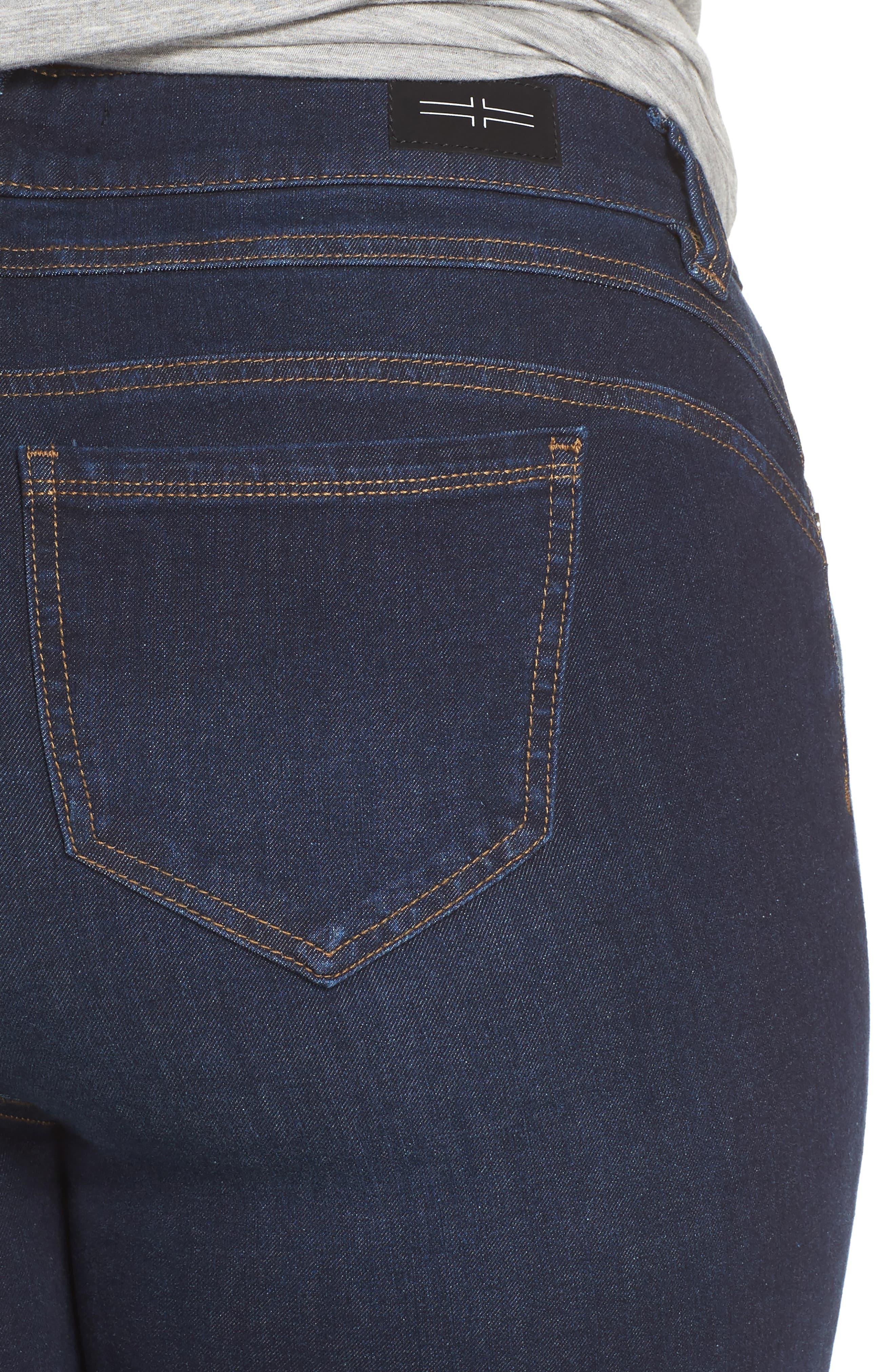 Remy - Hugger Straight Leg Jeans,                             Alternate thumbnail 4, color,                             CORVUS DARK
