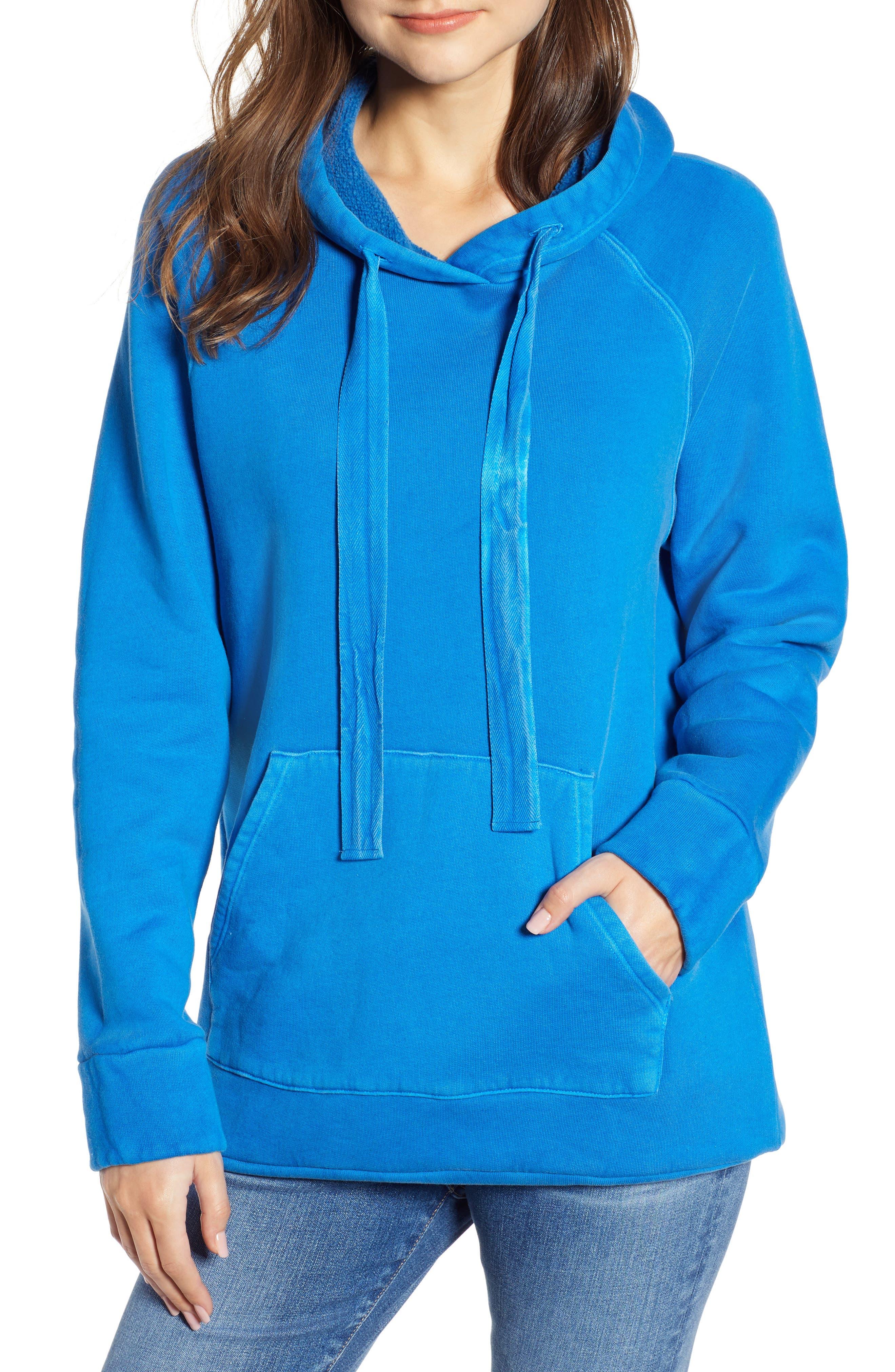 Neon Oversize Hoodie, Main, color, BLUE