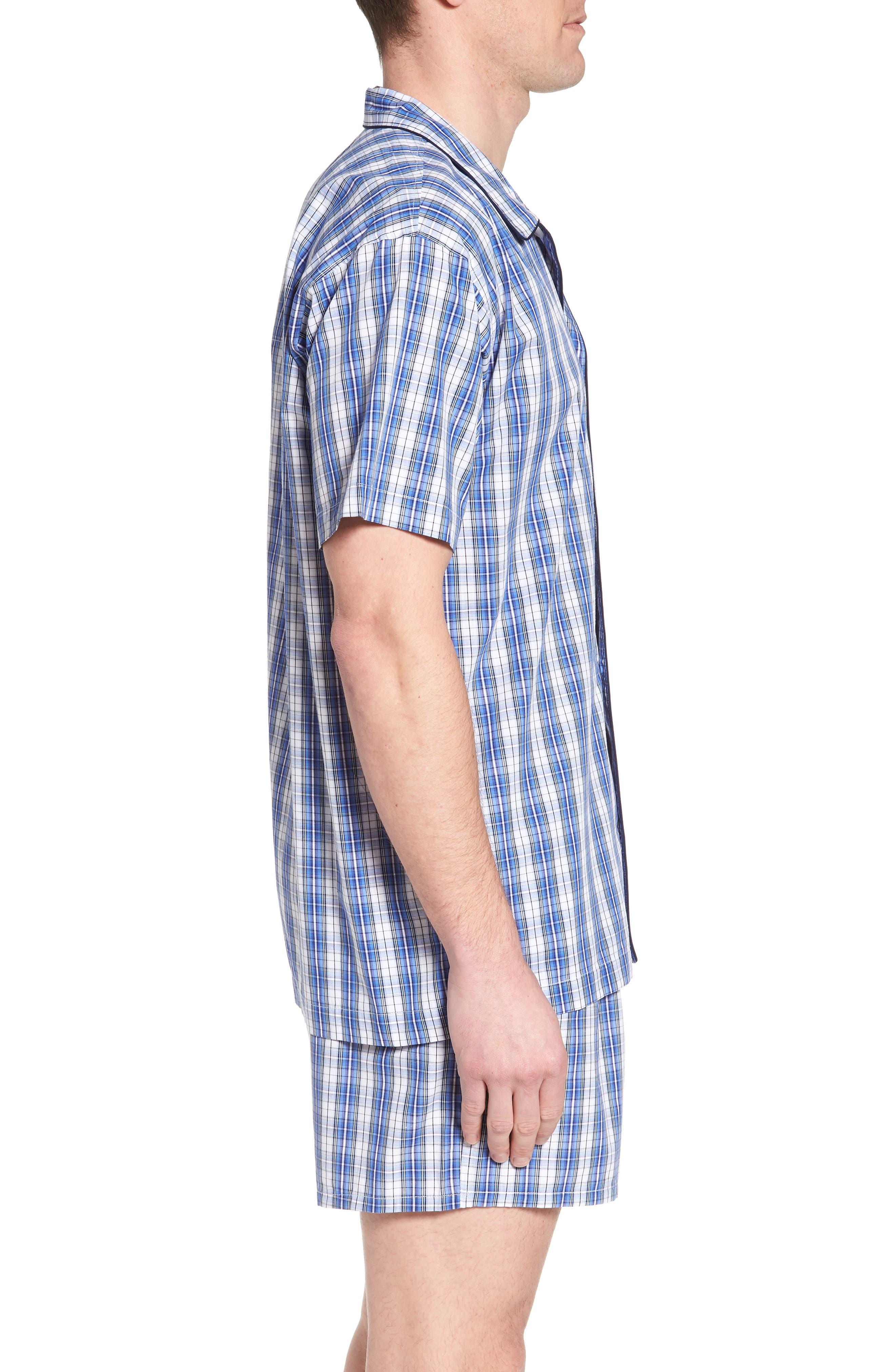 Cotton Pajama Shirt,                             Alternate thumbnail 3, color,                             428