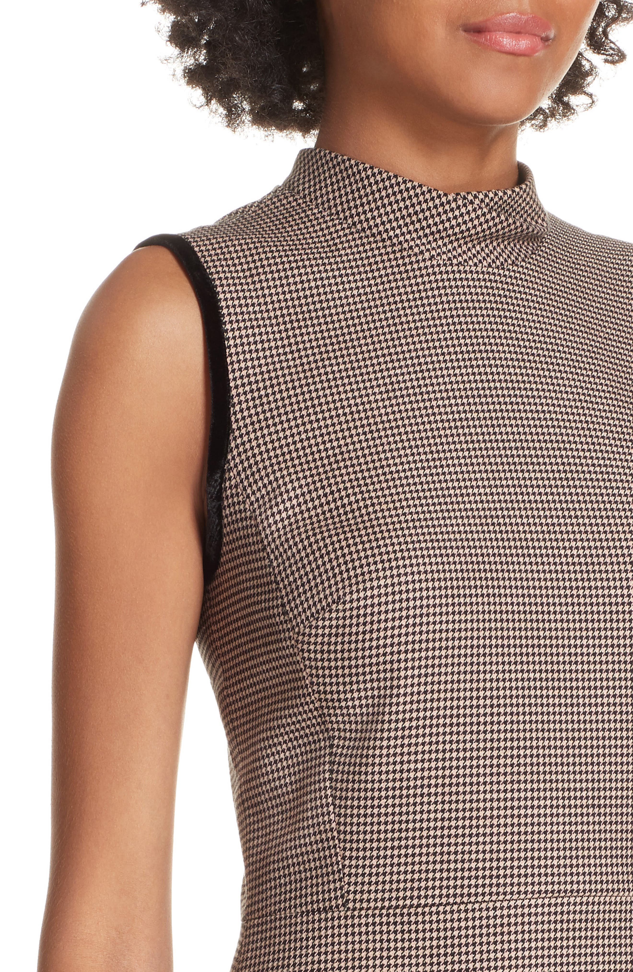 Houndstooth Sheath Dress,                             Alternate thumbnail 4, color,                             215