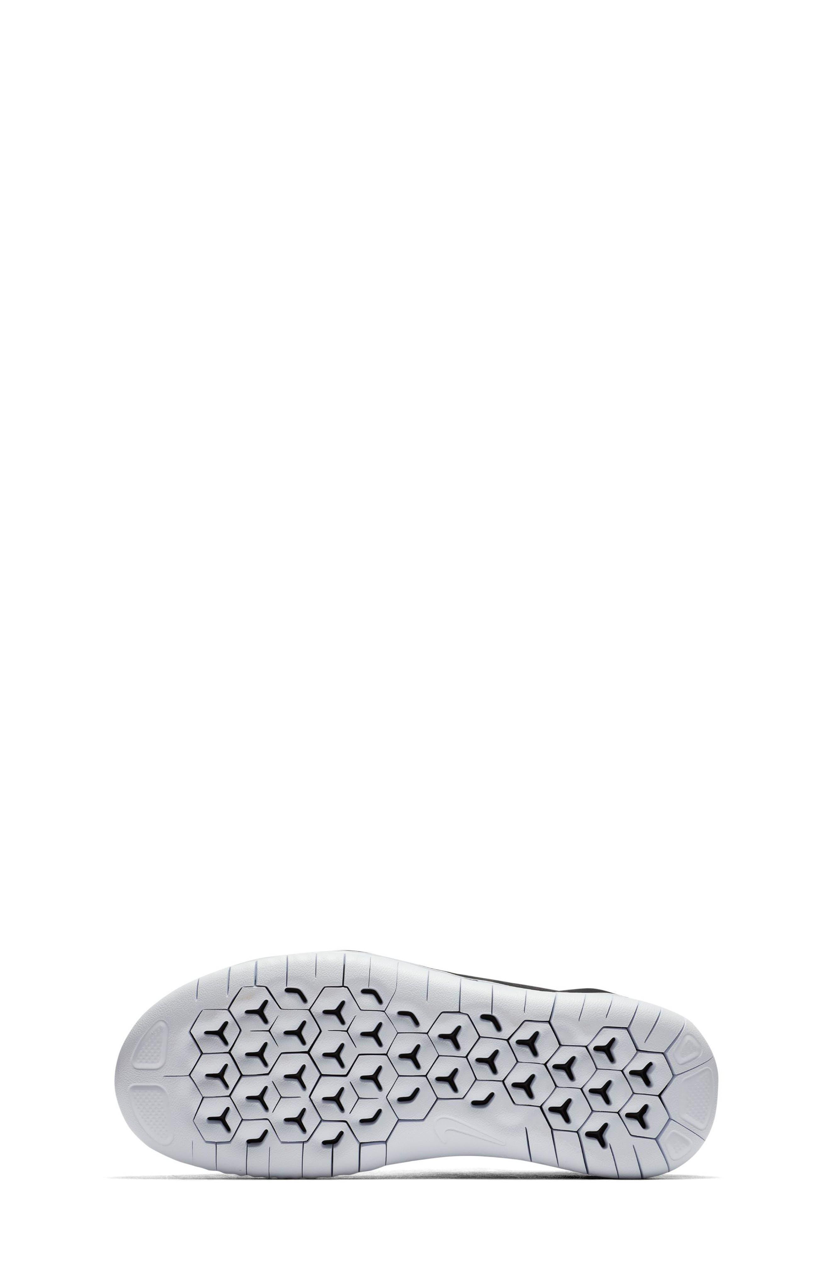 Free RN 2018 Running Shoe,                             Alternate thumbnail 5, color,                             BLACK/ WHITE