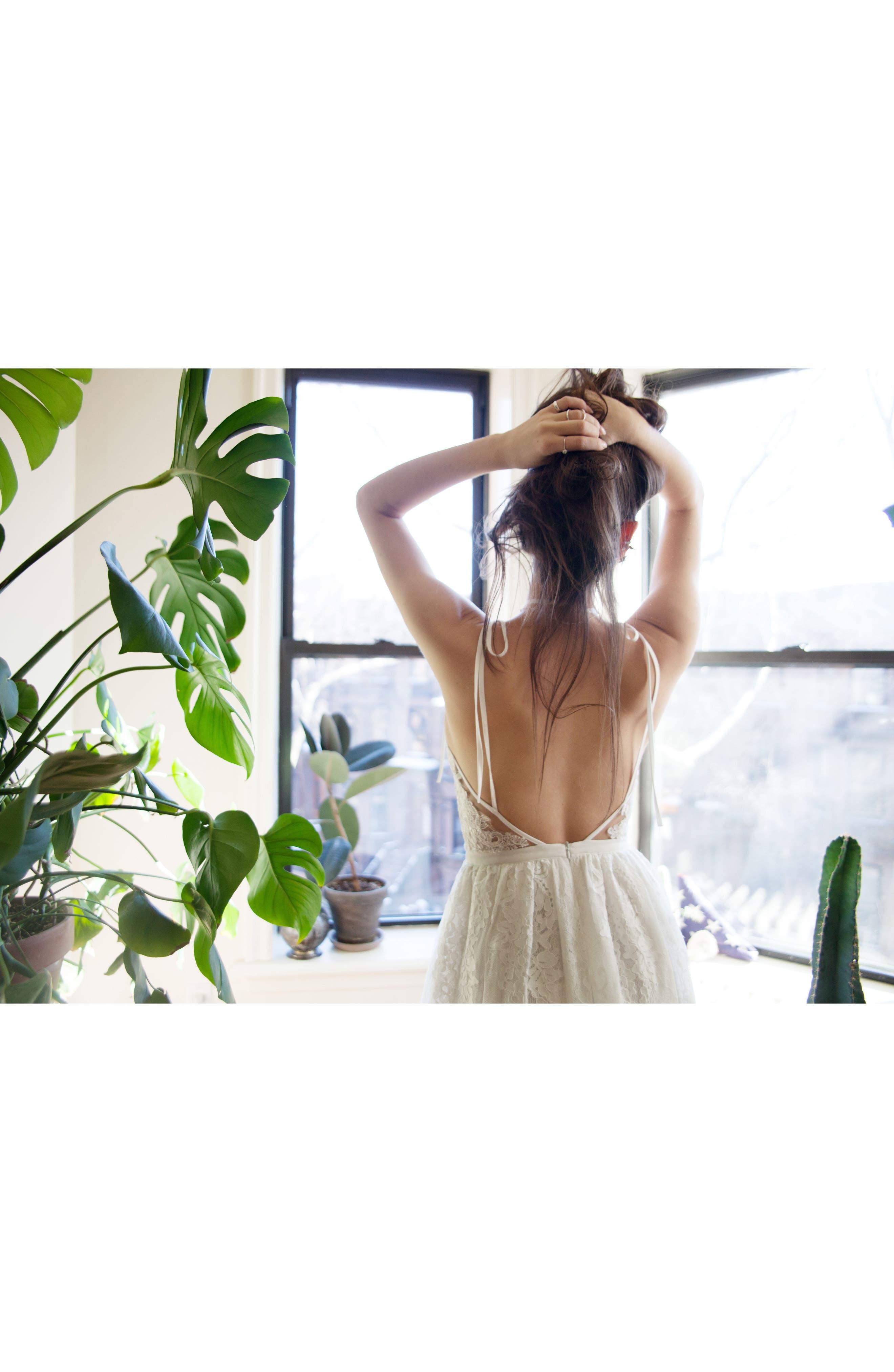 Charlie Tie Shoulder Lace Gown,                             Alternate thumbnail 10, color,