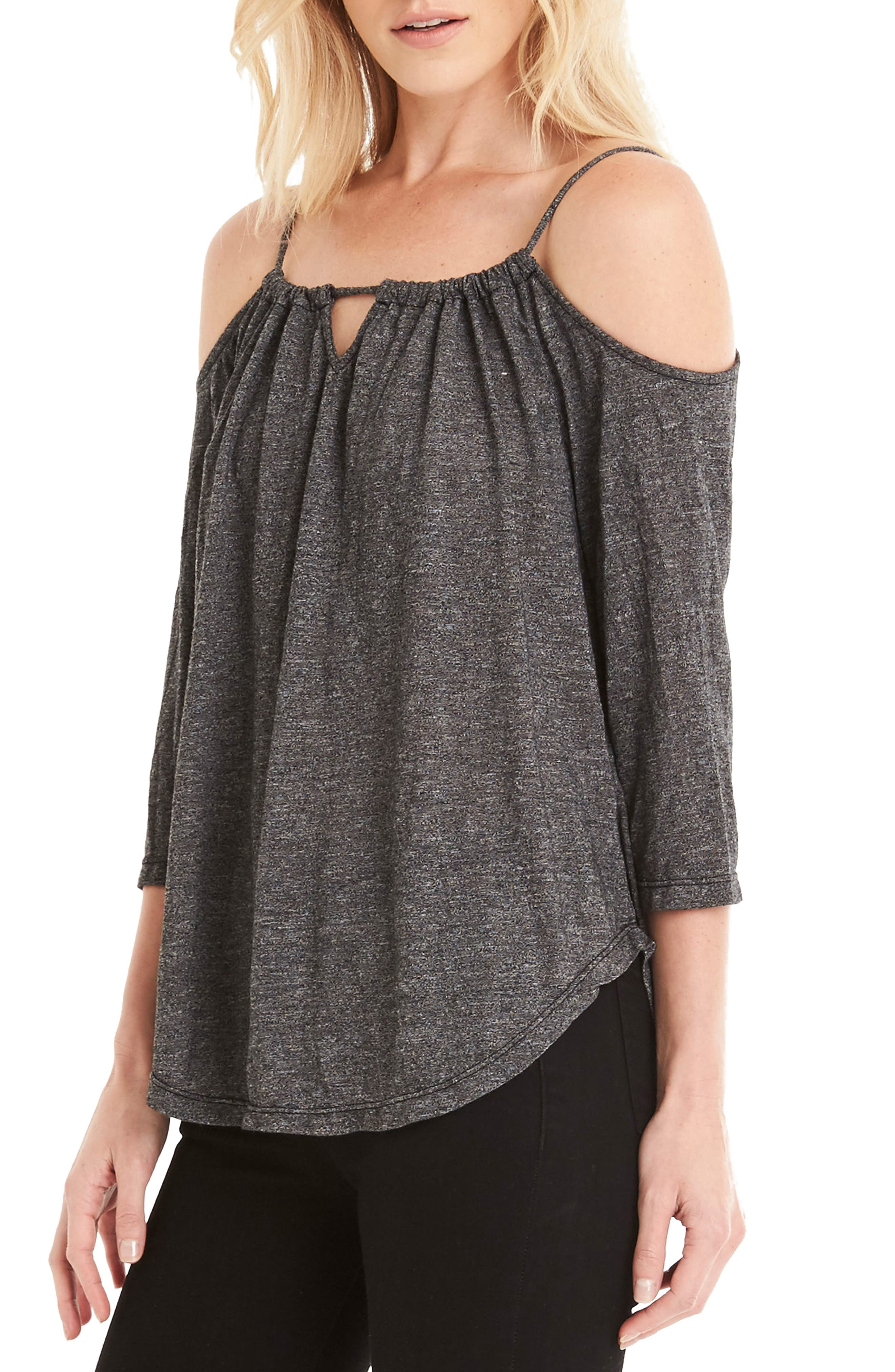 Switchable Off the Shoulder Top,                             Alternate thumbnail 3, color,                             001
