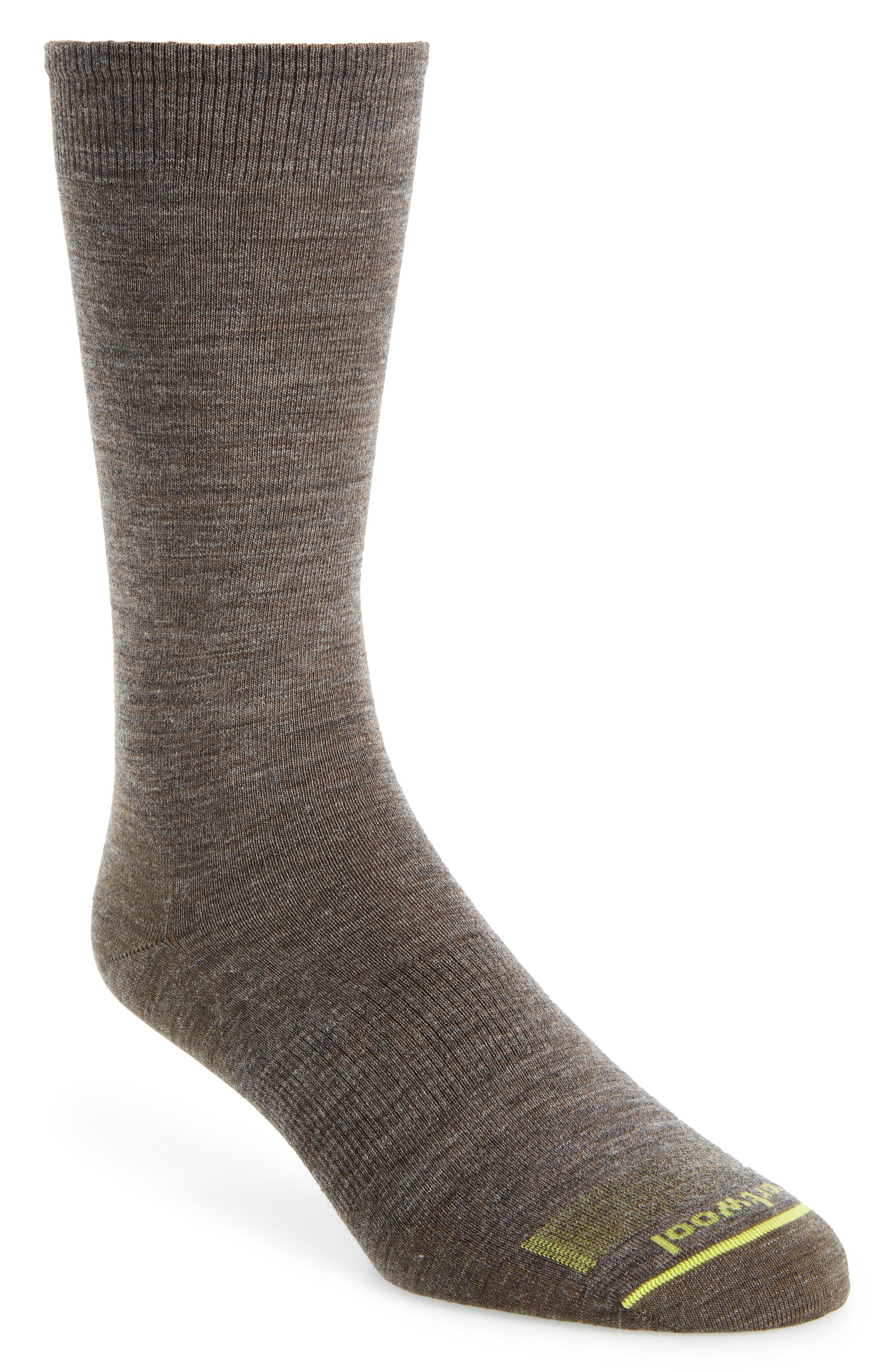 Anchor Line Merino Wool Blend Socks, Main, color, TAUPE