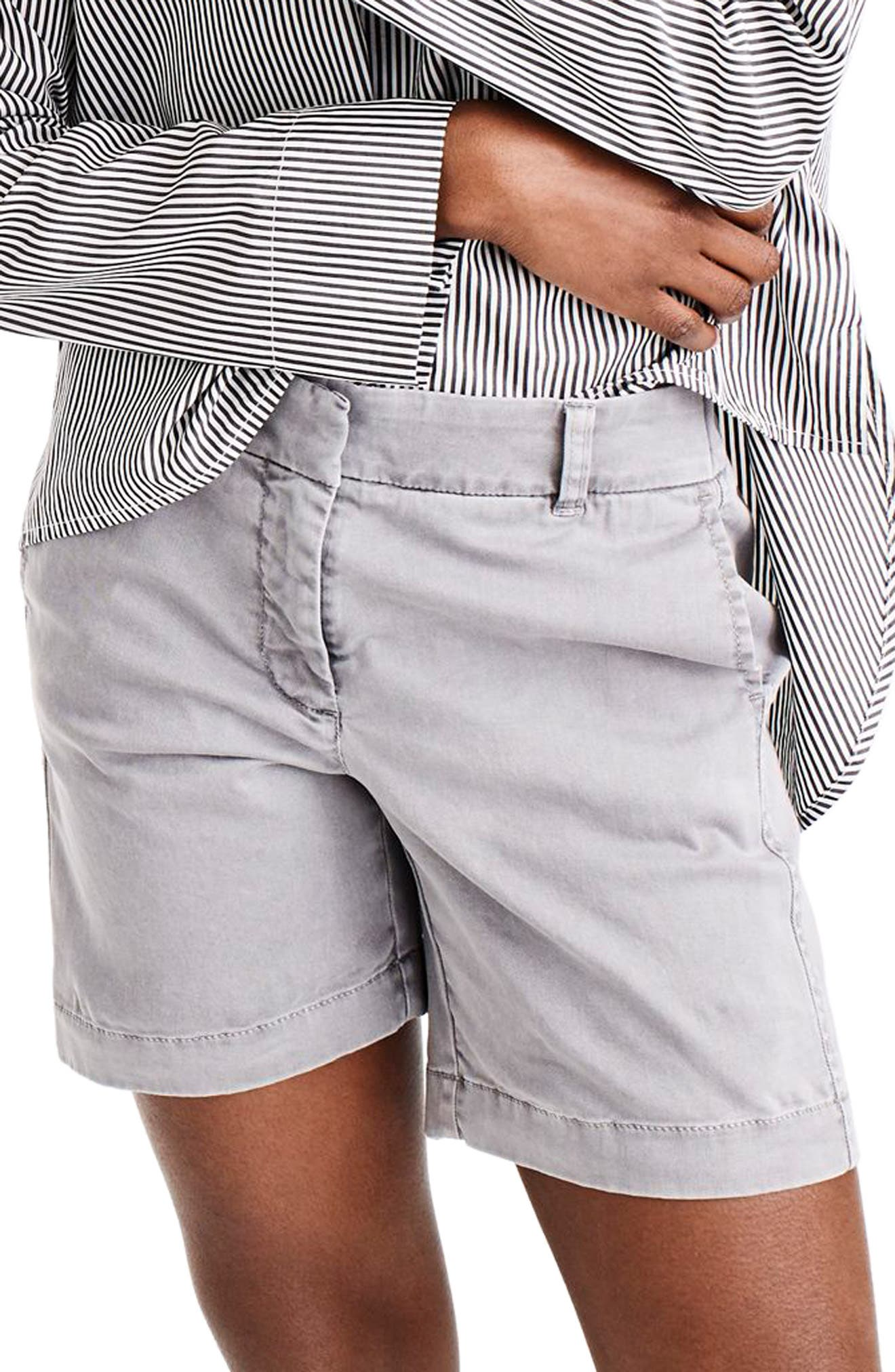 Stretch Cotton Chino Shorts,                         Main,                         color, 020