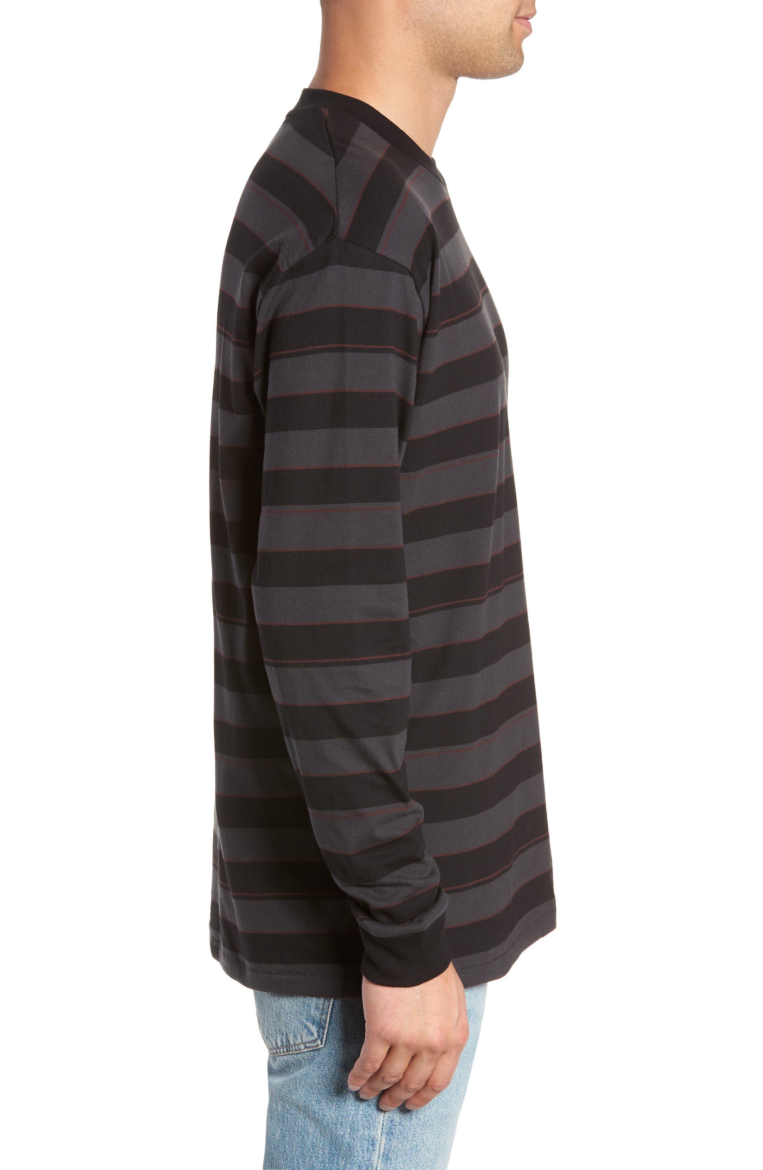 Hoop Box Long Sleeve T-Shirt,                             Alternate thumbnail 3, color,                             VINTAGE BLACK/ BLACK