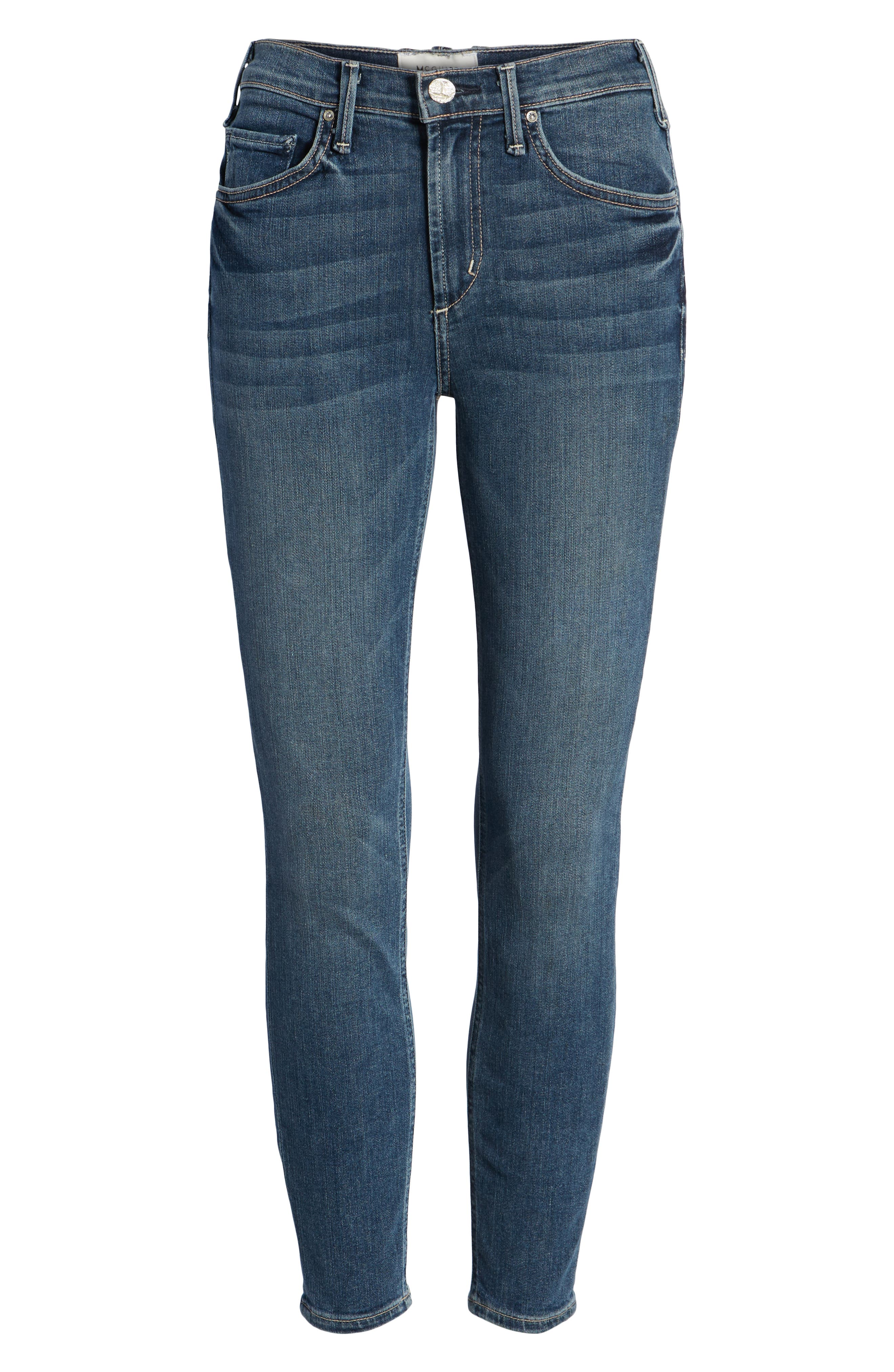 Newton Crop Skinny Jeans,                             Alternate thumbnail 7, color,                             BARTHELEMY GARDENS