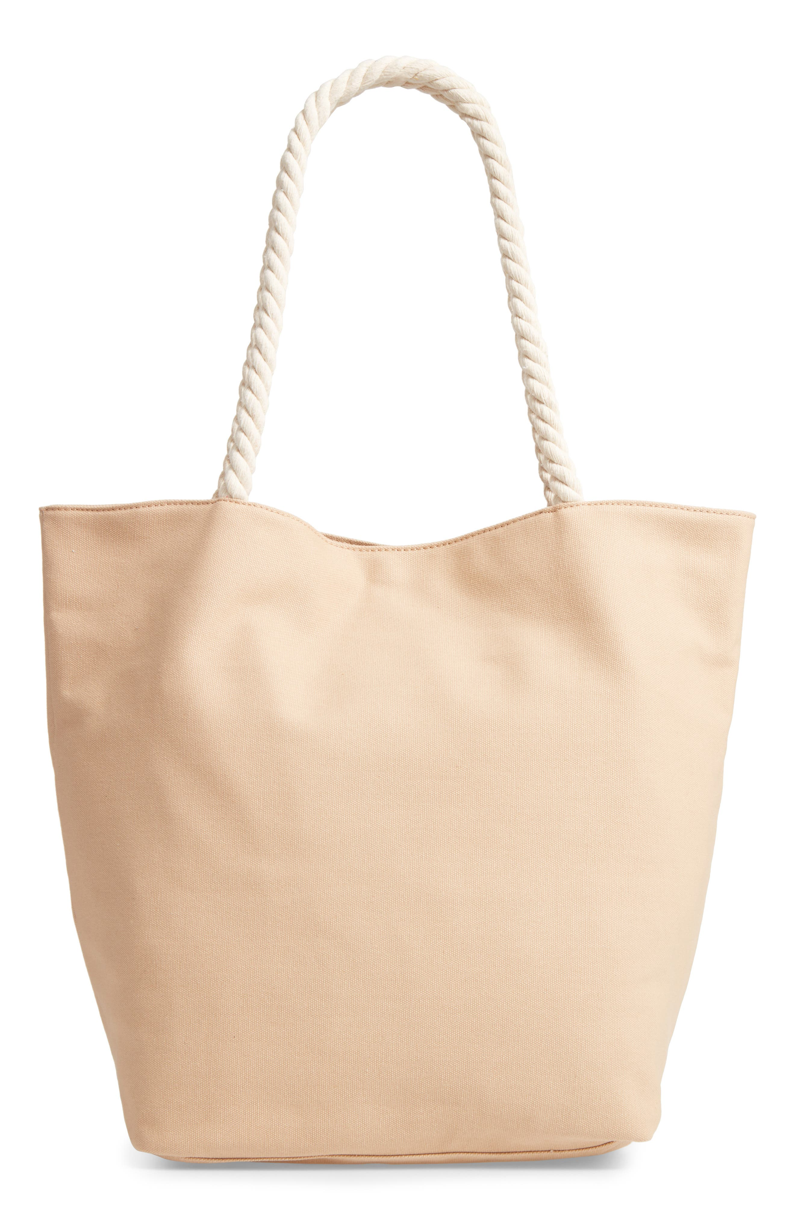 BP. Rope Handle Canvas Tote, Main, color, 250