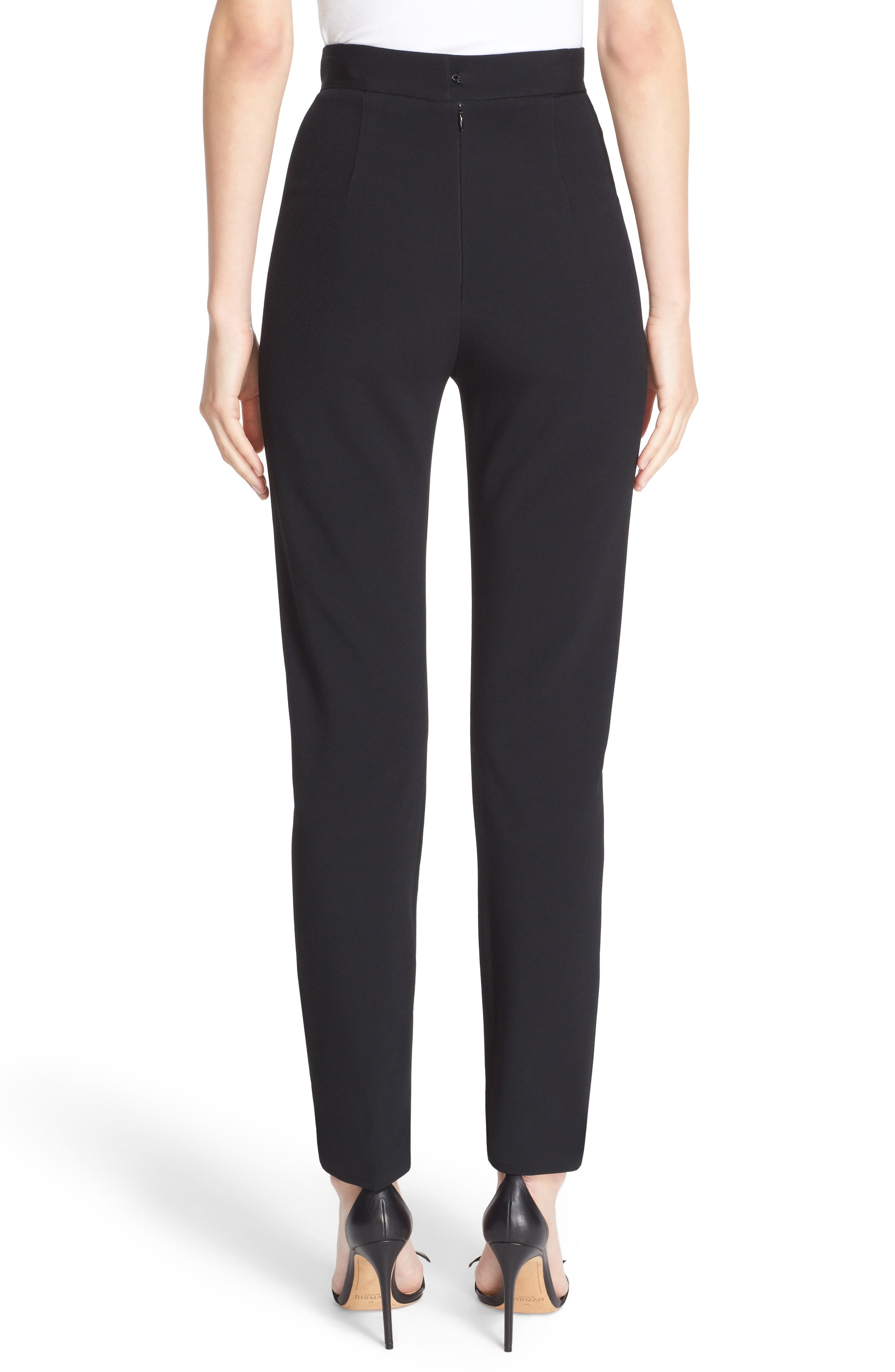 Skinny Cady Crepe Pants,                             Alternate thumbnail 3, color,