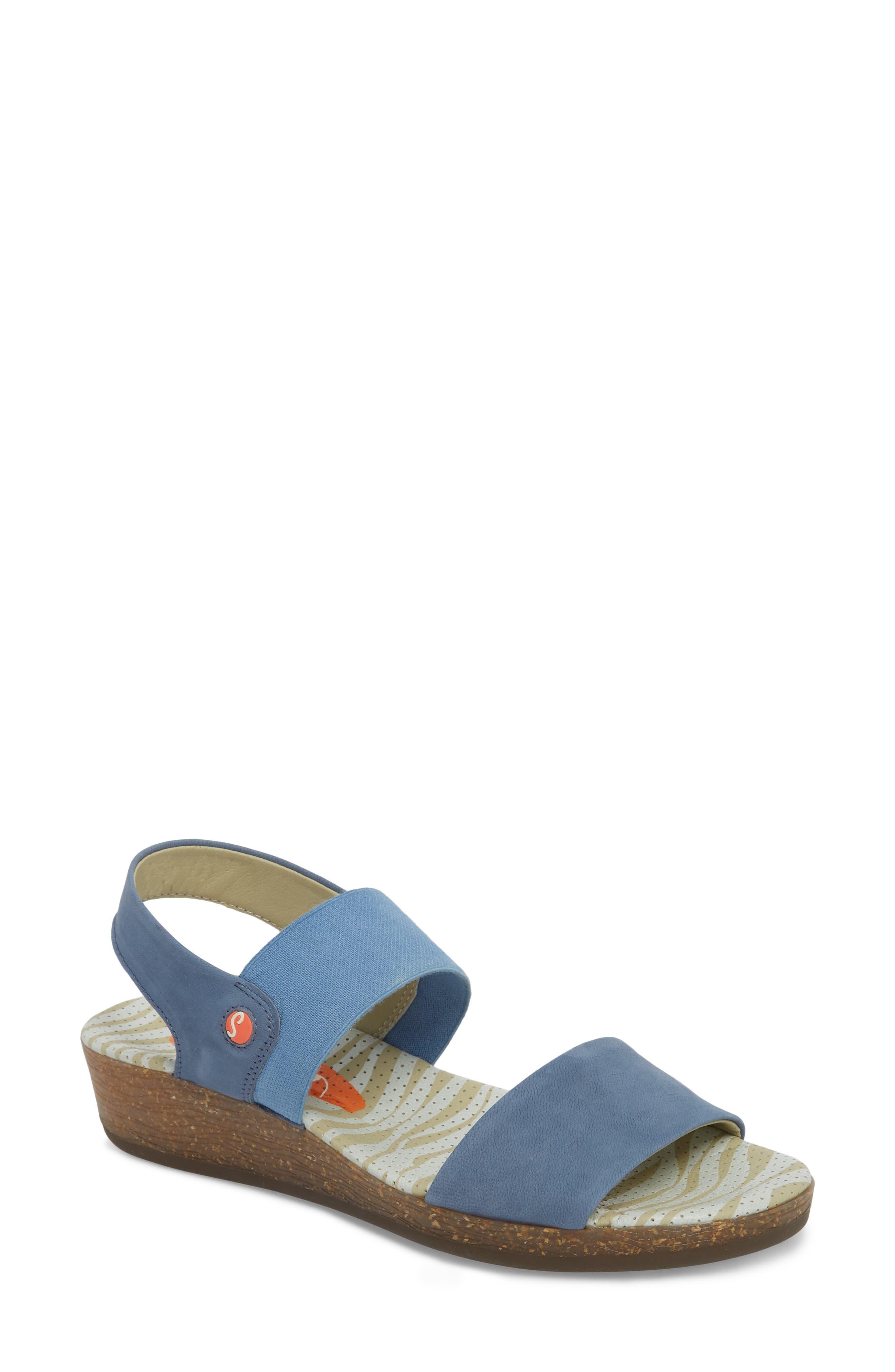 Softinos By Fly London Alp425Sof Sandal - Blue