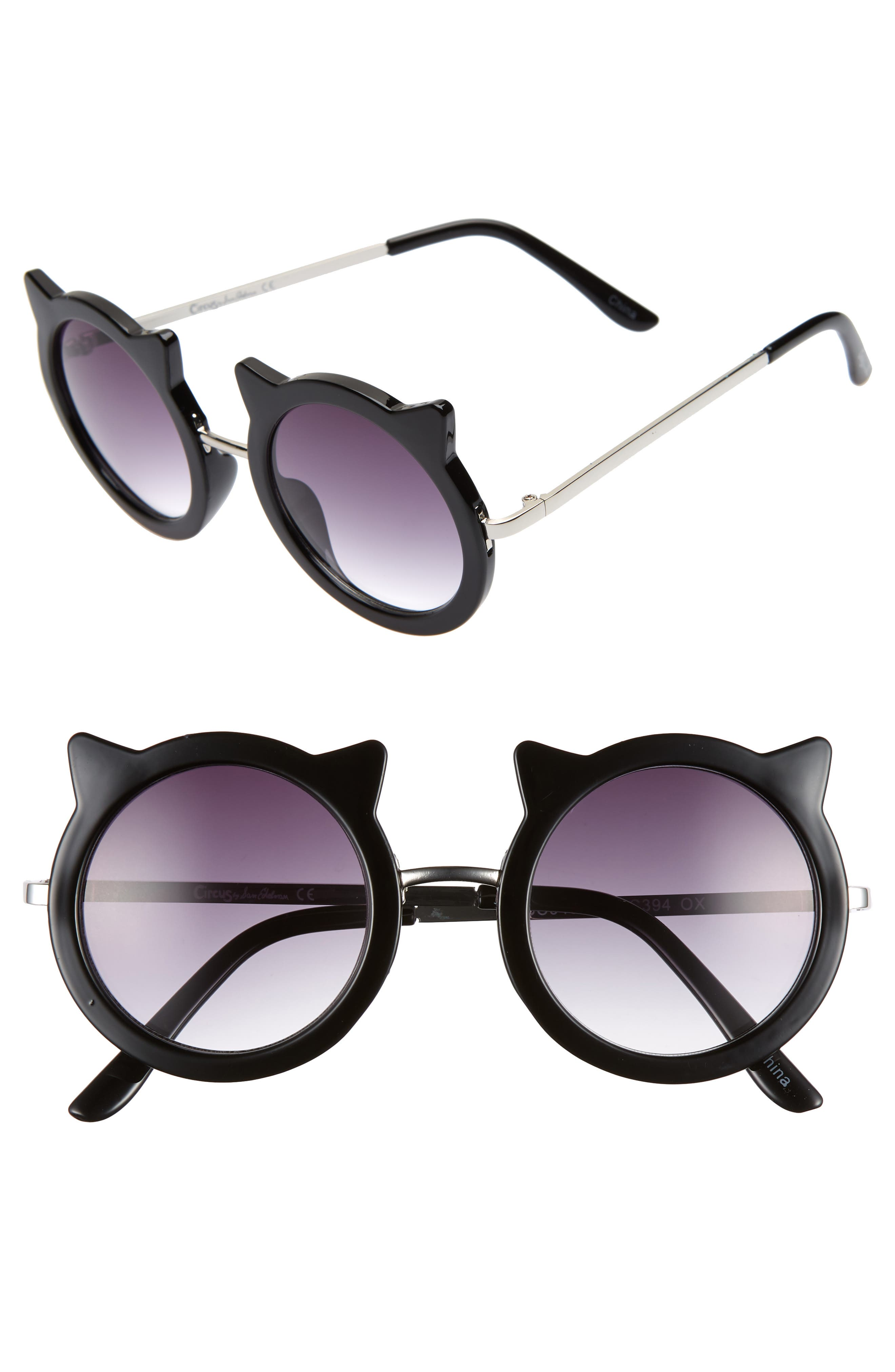 CIRCUS BY SAM EDELMAN 48Mm Round Cat Sunglasses - Black