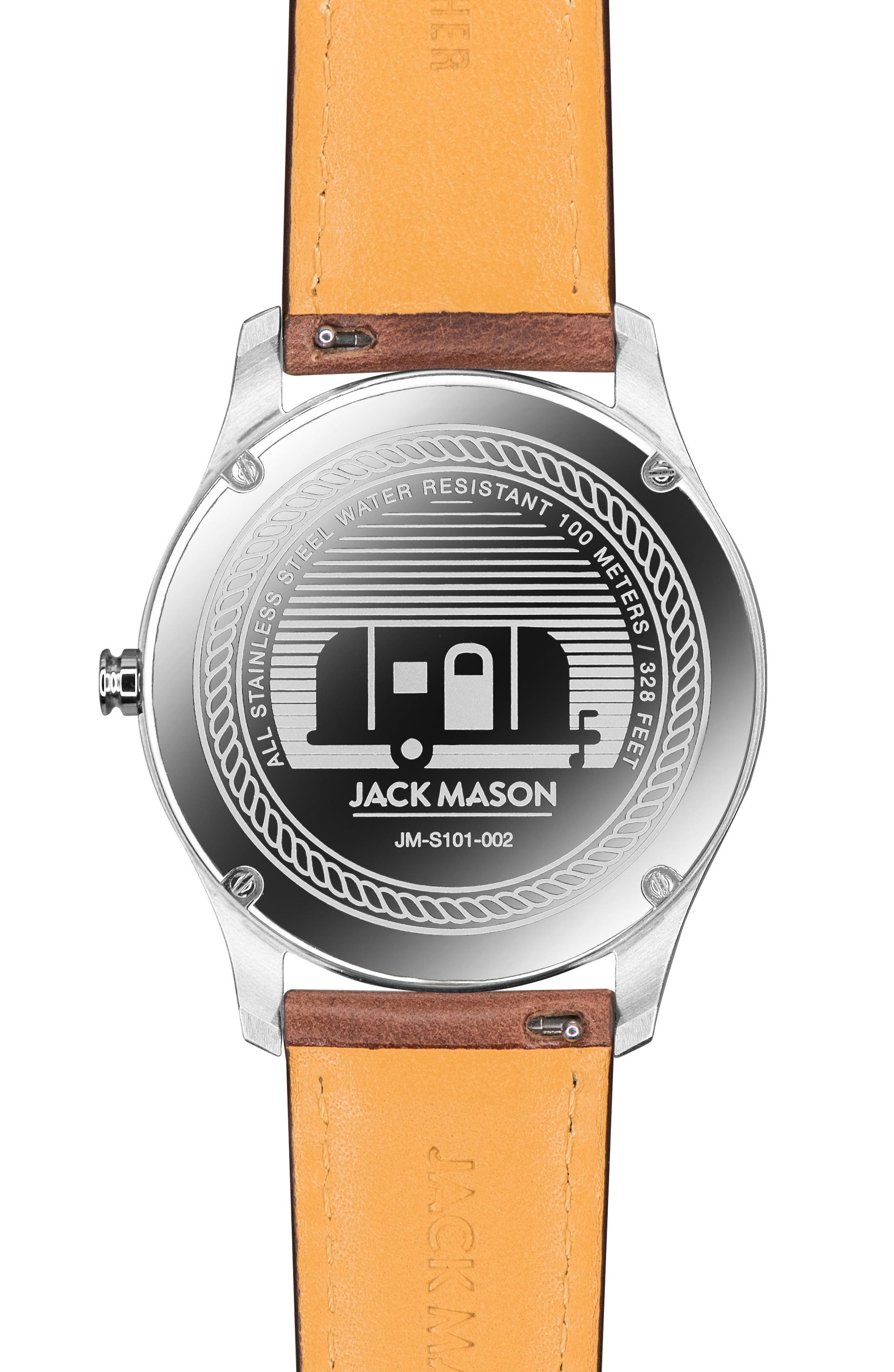 Slim Leather Strap Watch, 42mm,                             Alternate thumbnail 2, color,