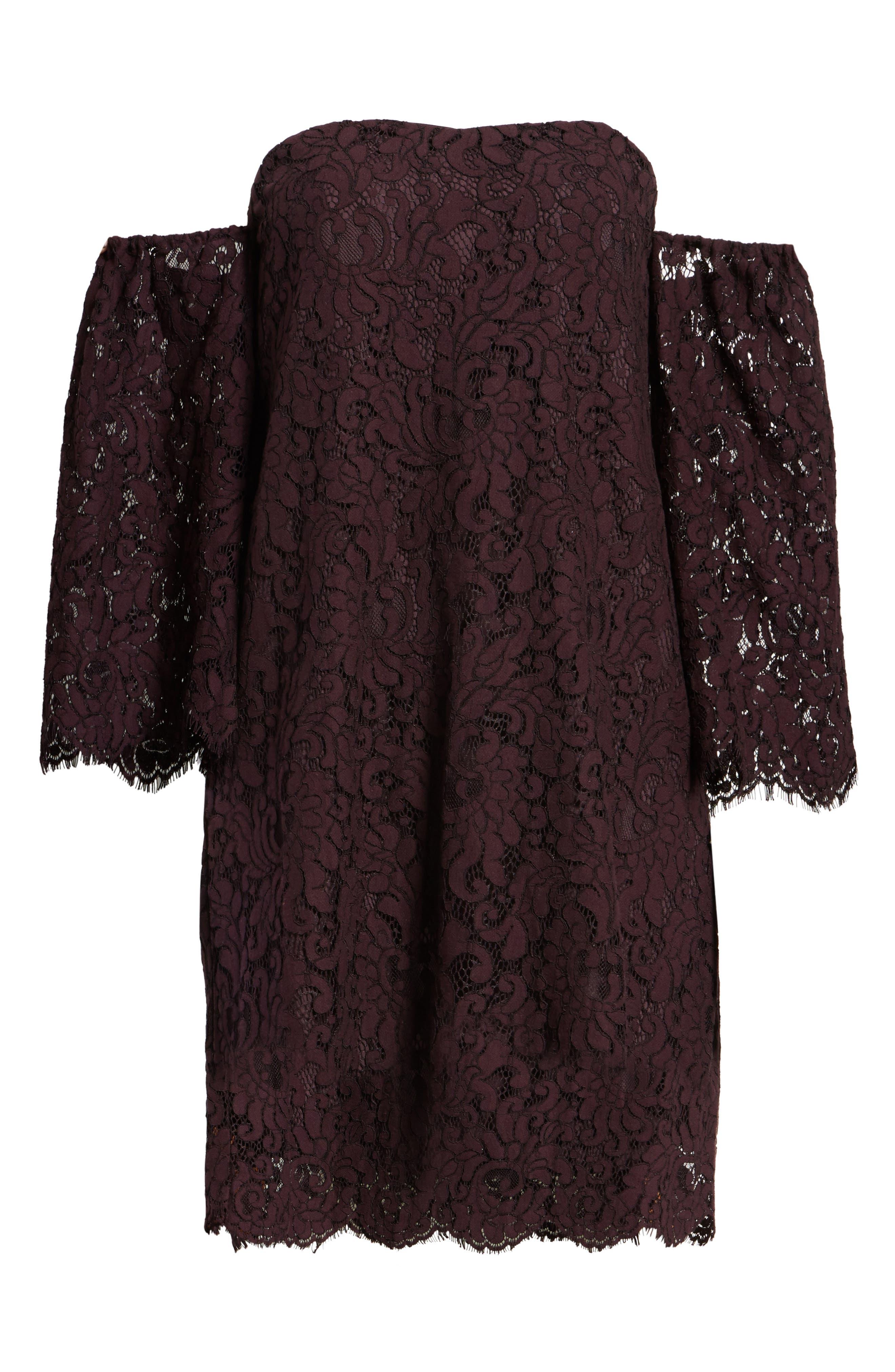 Adalira Off the Shoulder Lace Dress,                             Alternate thumbnail 6, color,                             930