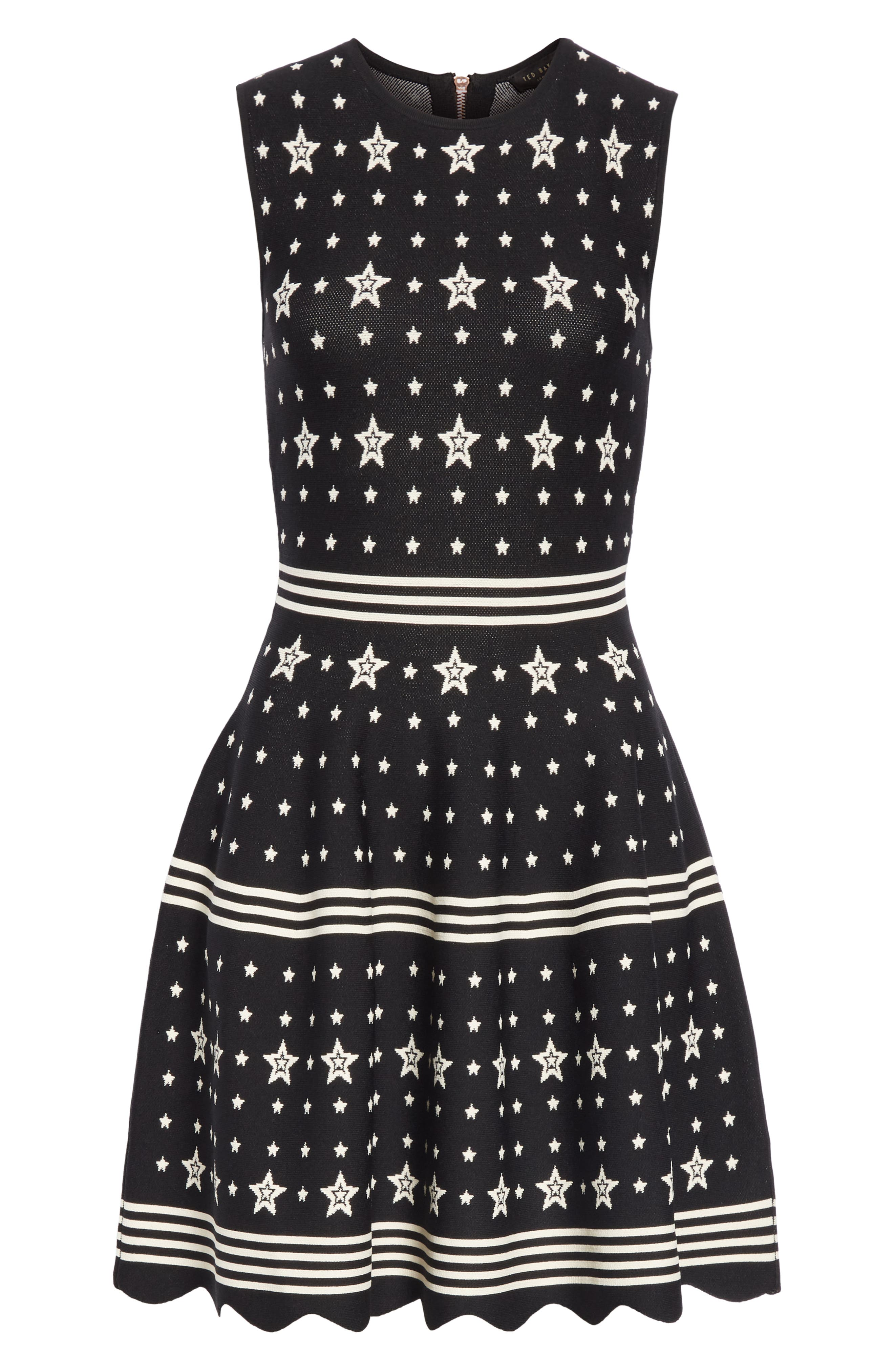 Mariae Star Dress,                             Alternate thumbnail 6, color,                             001