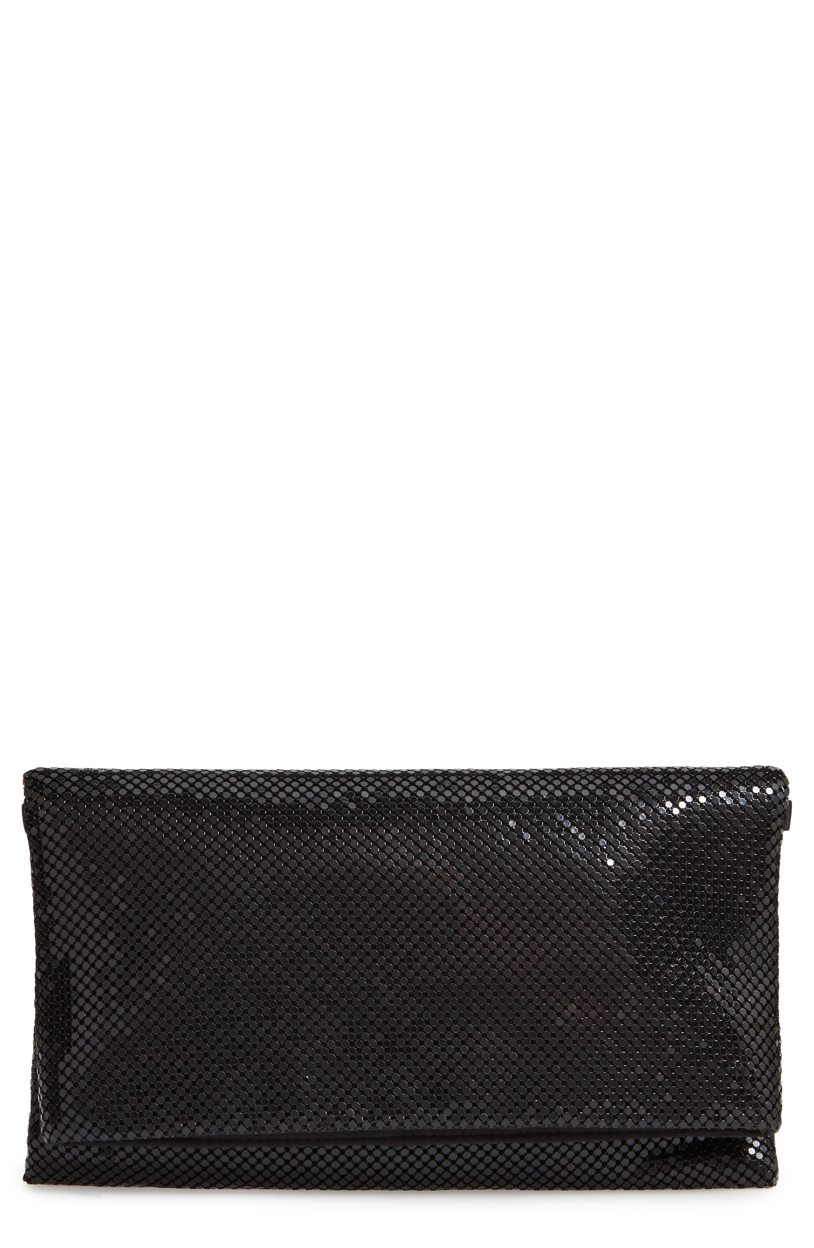 Crystal Mesh Crossbody Bag,                             Main thumbnail 1, color,                             BLACK