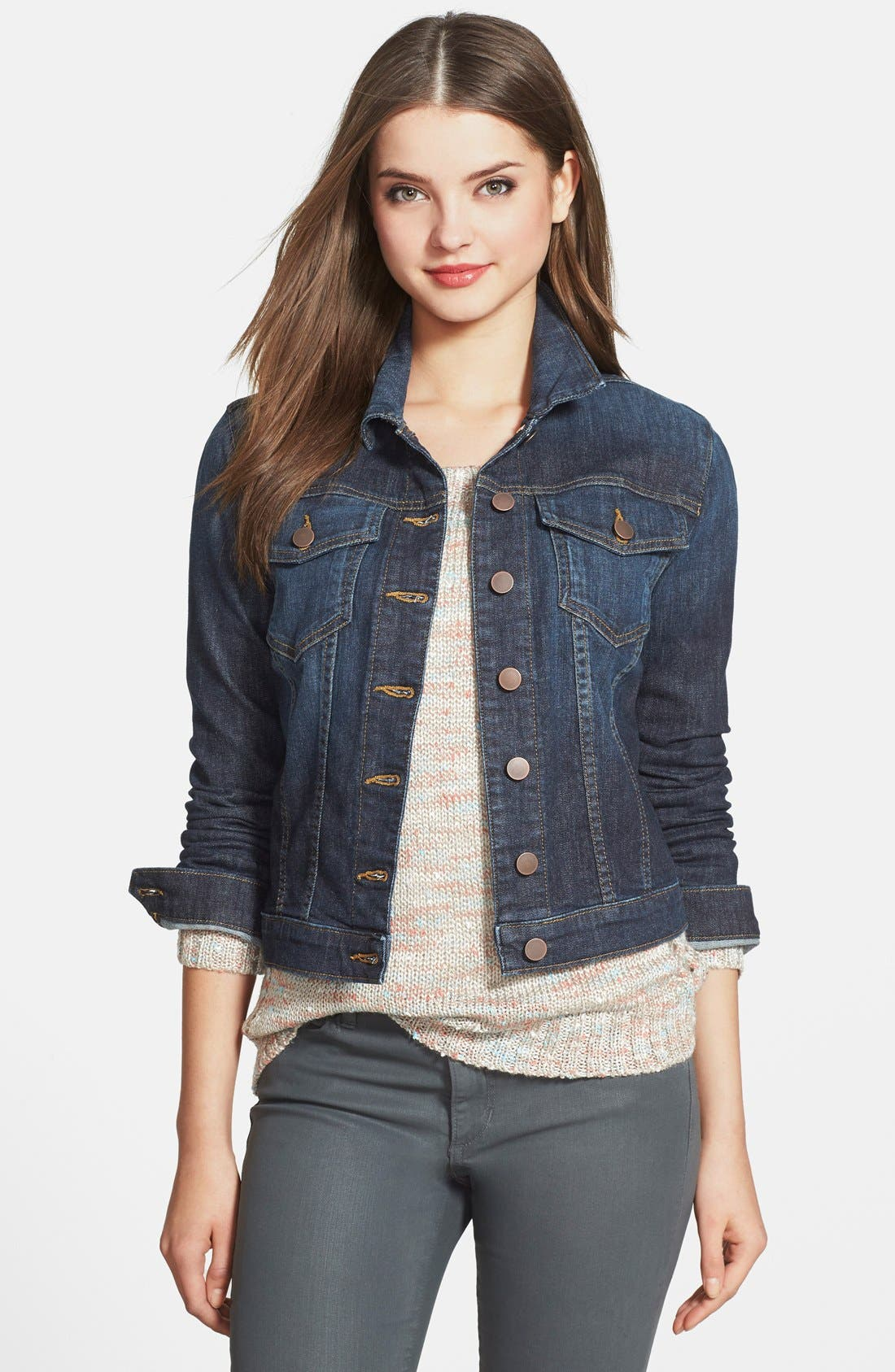 'Helena' Denim Jacket,                         Main,                         color, GRATITUDE