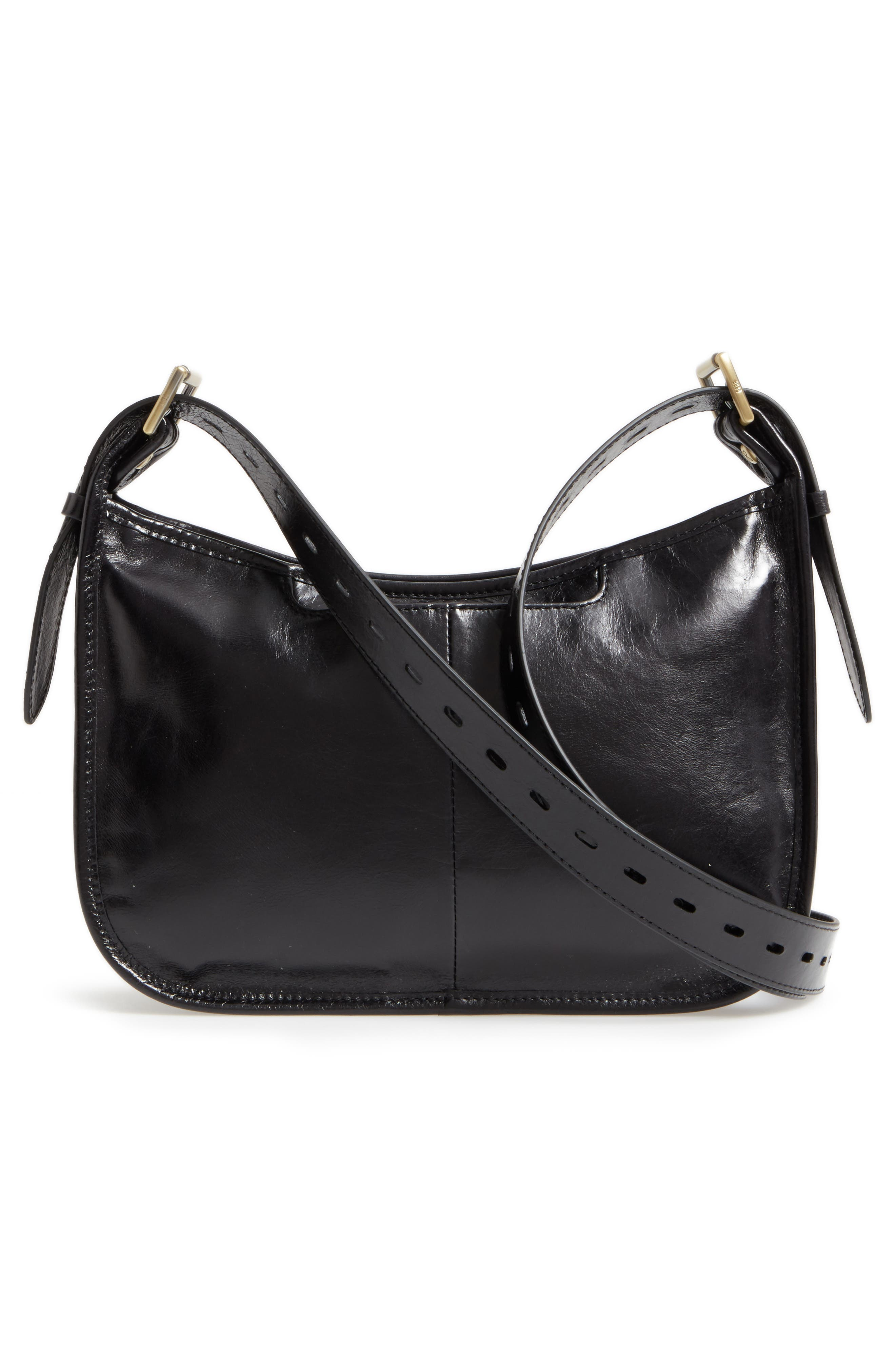 Chase Calfskin Leather Crossbody Bag,                             Alternate thumbnail 3, color,                             BLACK