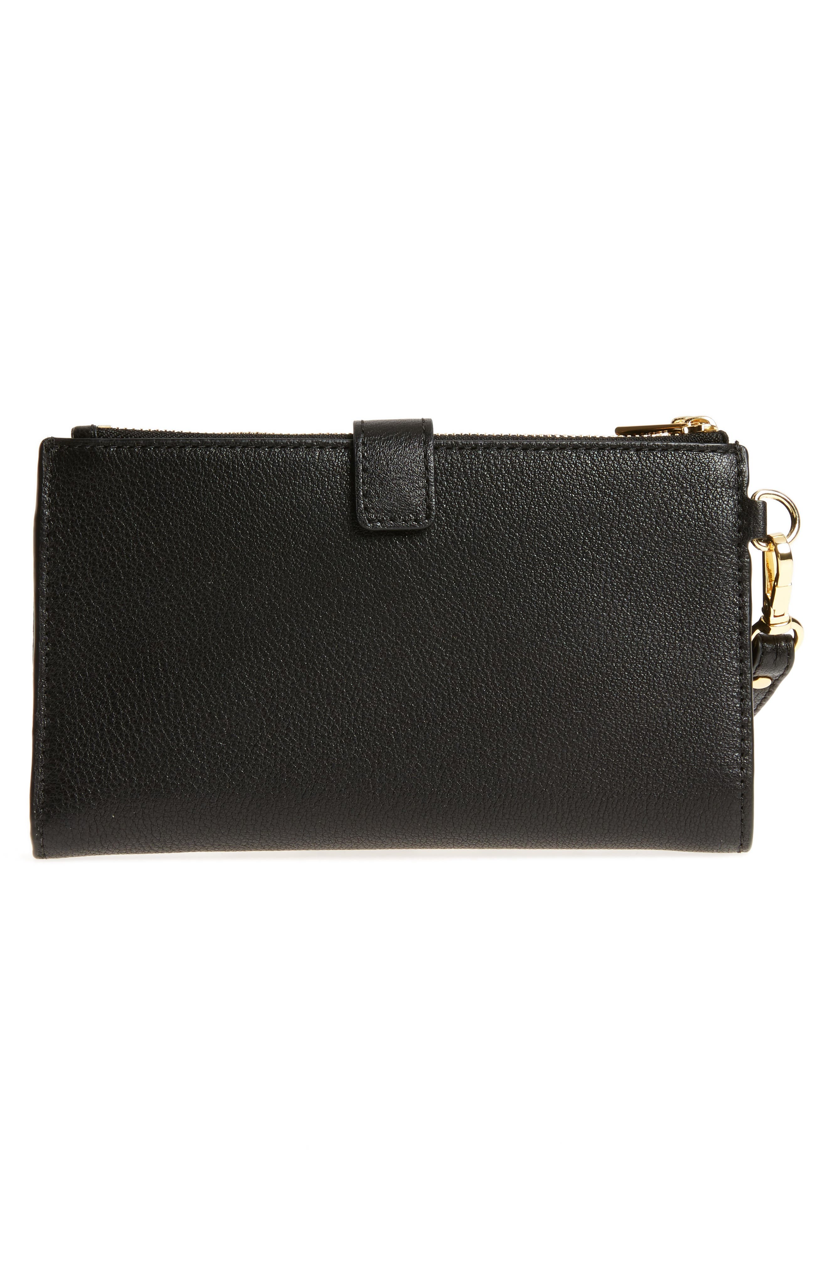 Adele Leather Wristlet,                             Alternate thumbnail 26, color,