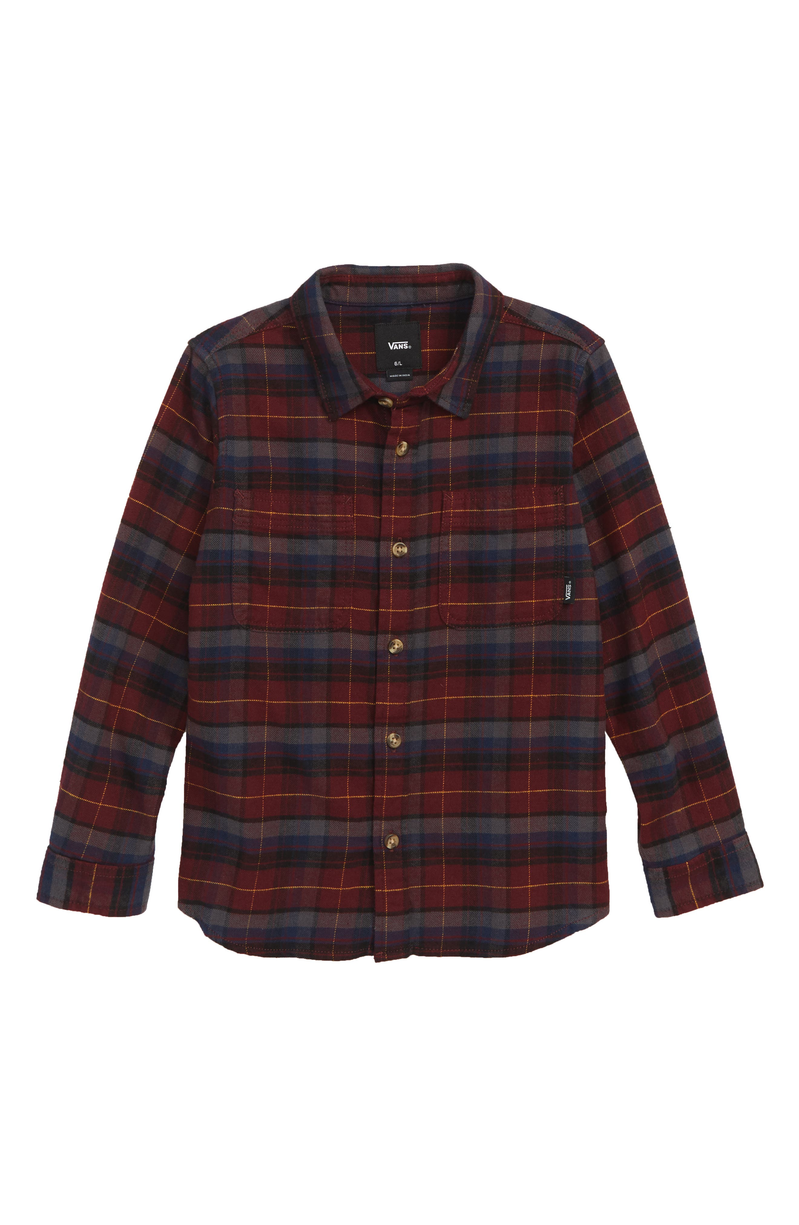 Banfield III Plaid Flannel Shirt,                             Main thumbnail 1, color,                             601