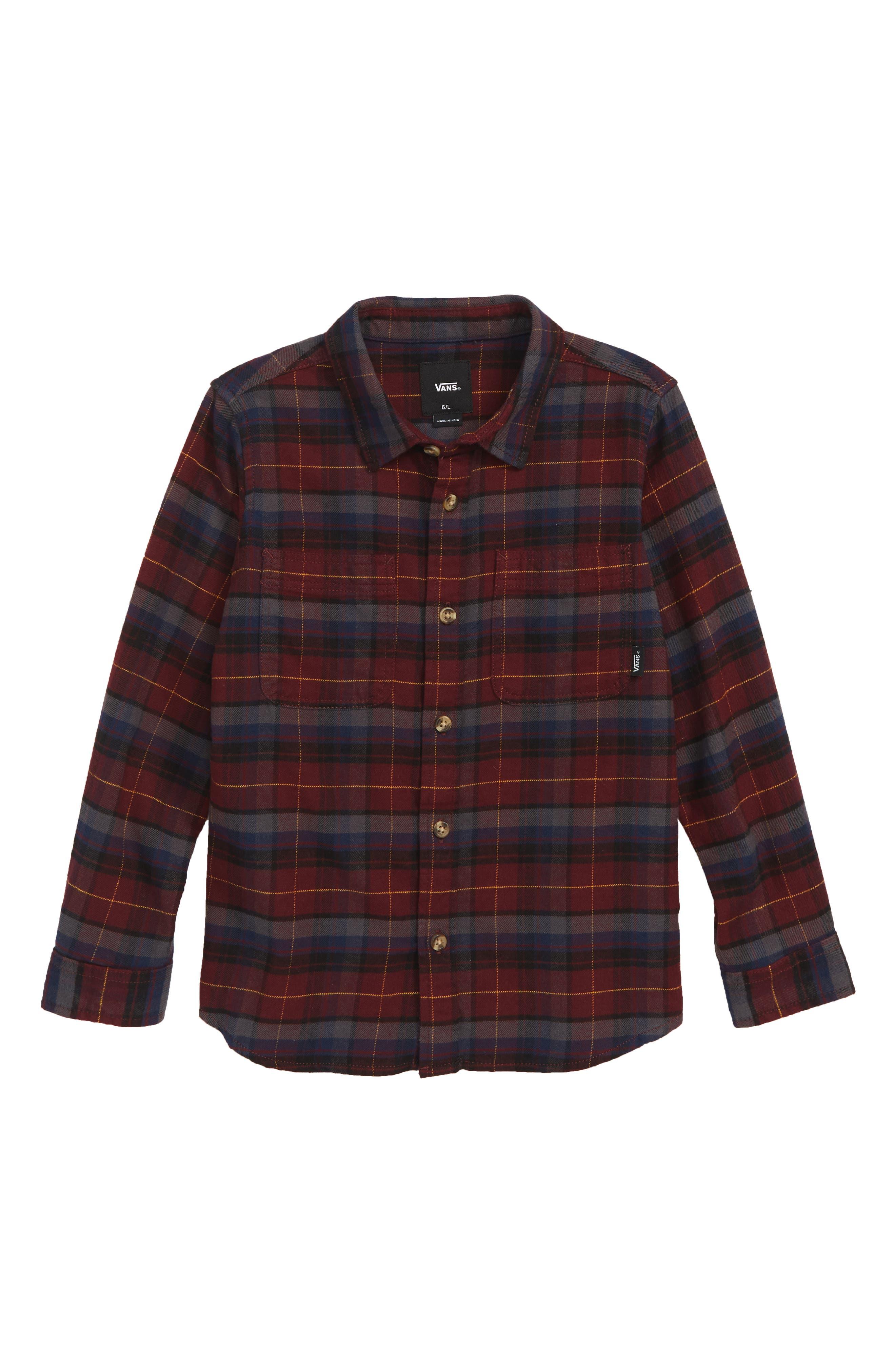 Banfield III Plaid Flannel Shirt,                         Main,                         color, 601