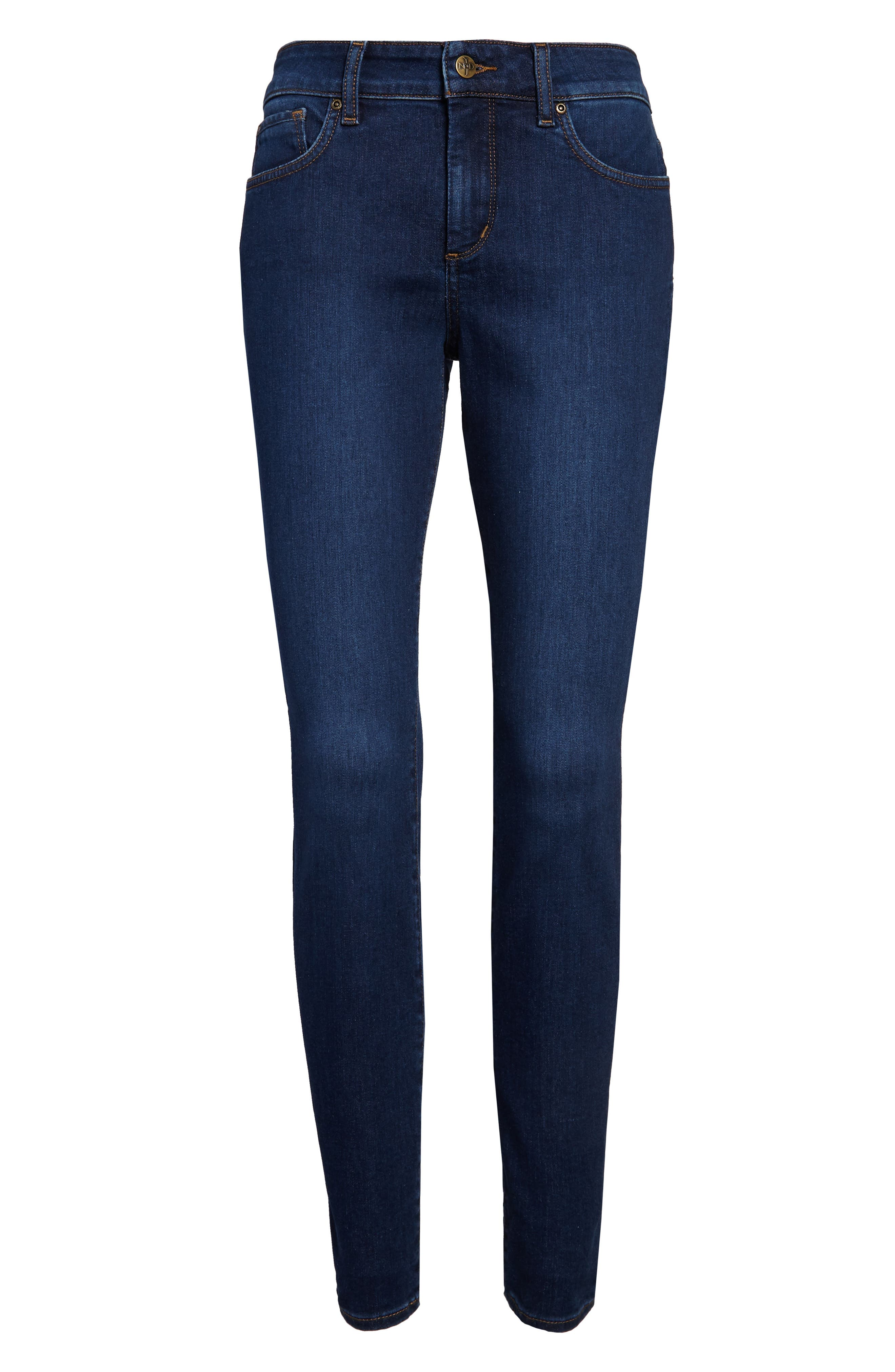 Ami High Waist Stretch Skinny Jeans,                             Alternate thumbnail 4, color,                             COOPER