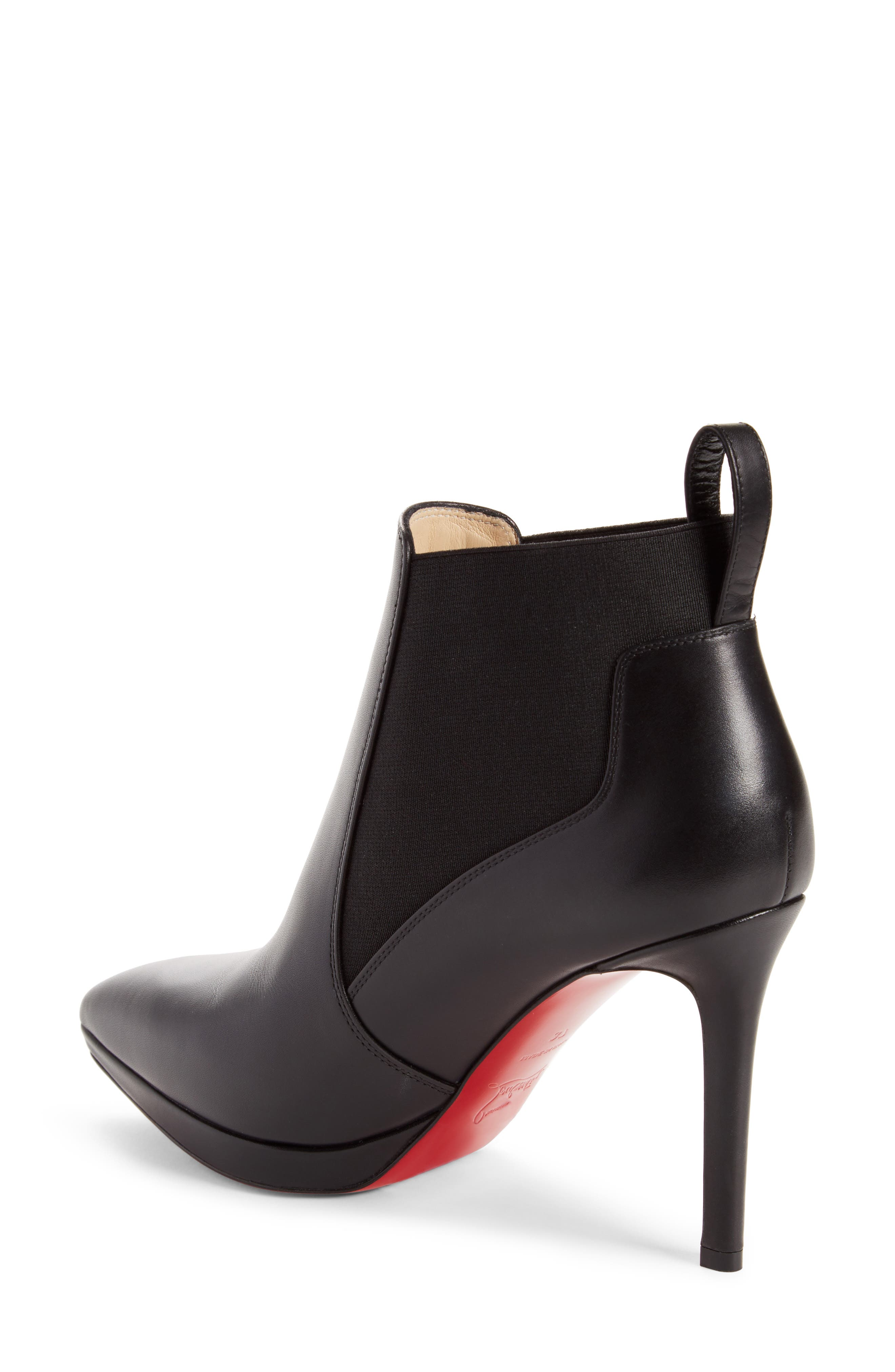 Crochinetta Bootie,                             Alternate thumbnail 2, color,                             BLACK