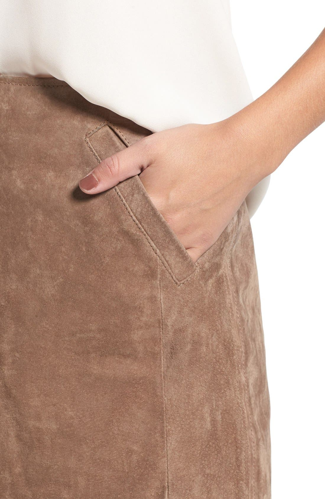 Suede Miniskirt,                             Alternate thumbnail 13, color,