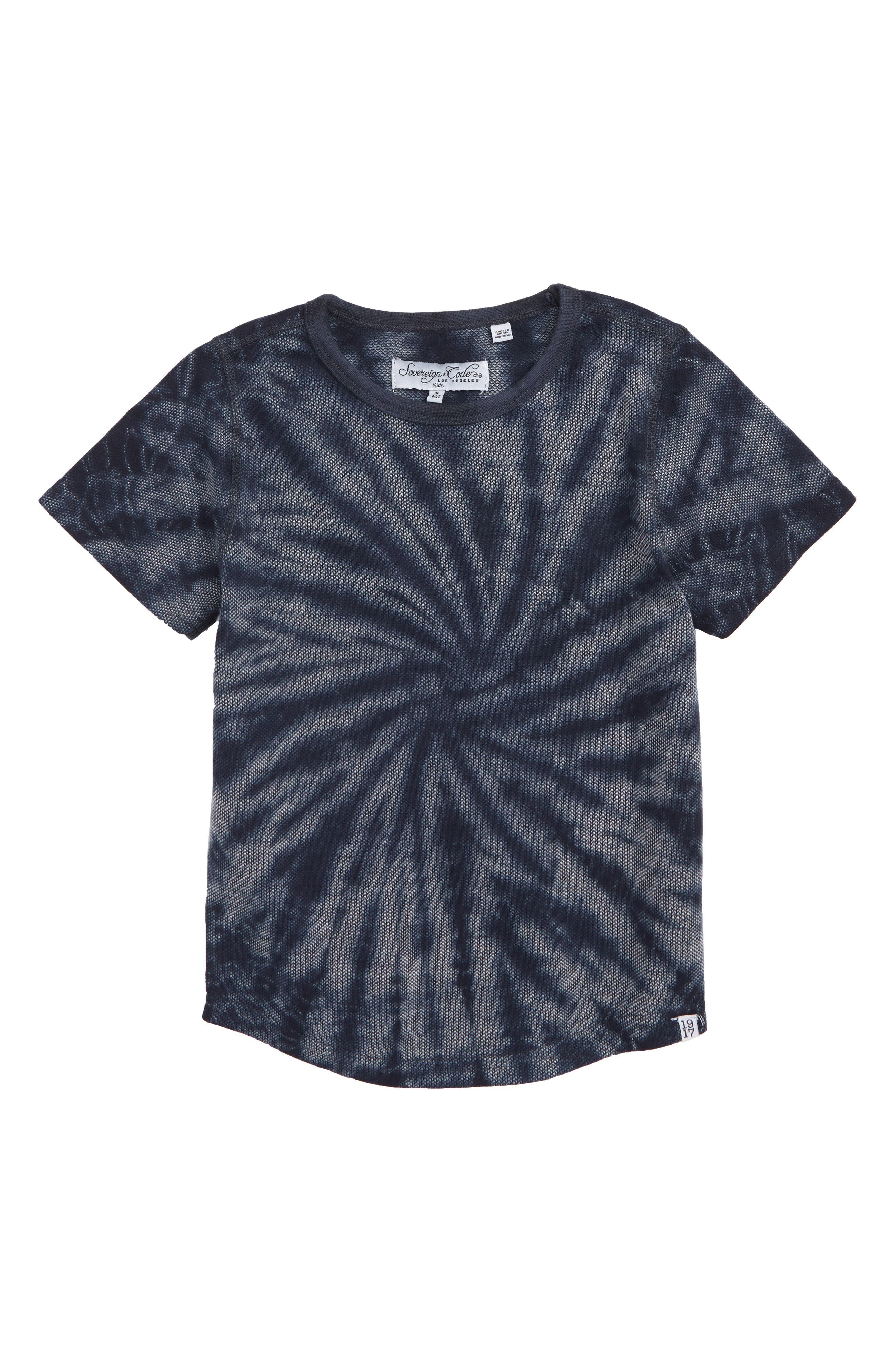 Tourist Tie Dye T-Shirt,                             Main thumbnail 1, color,                             NAVY