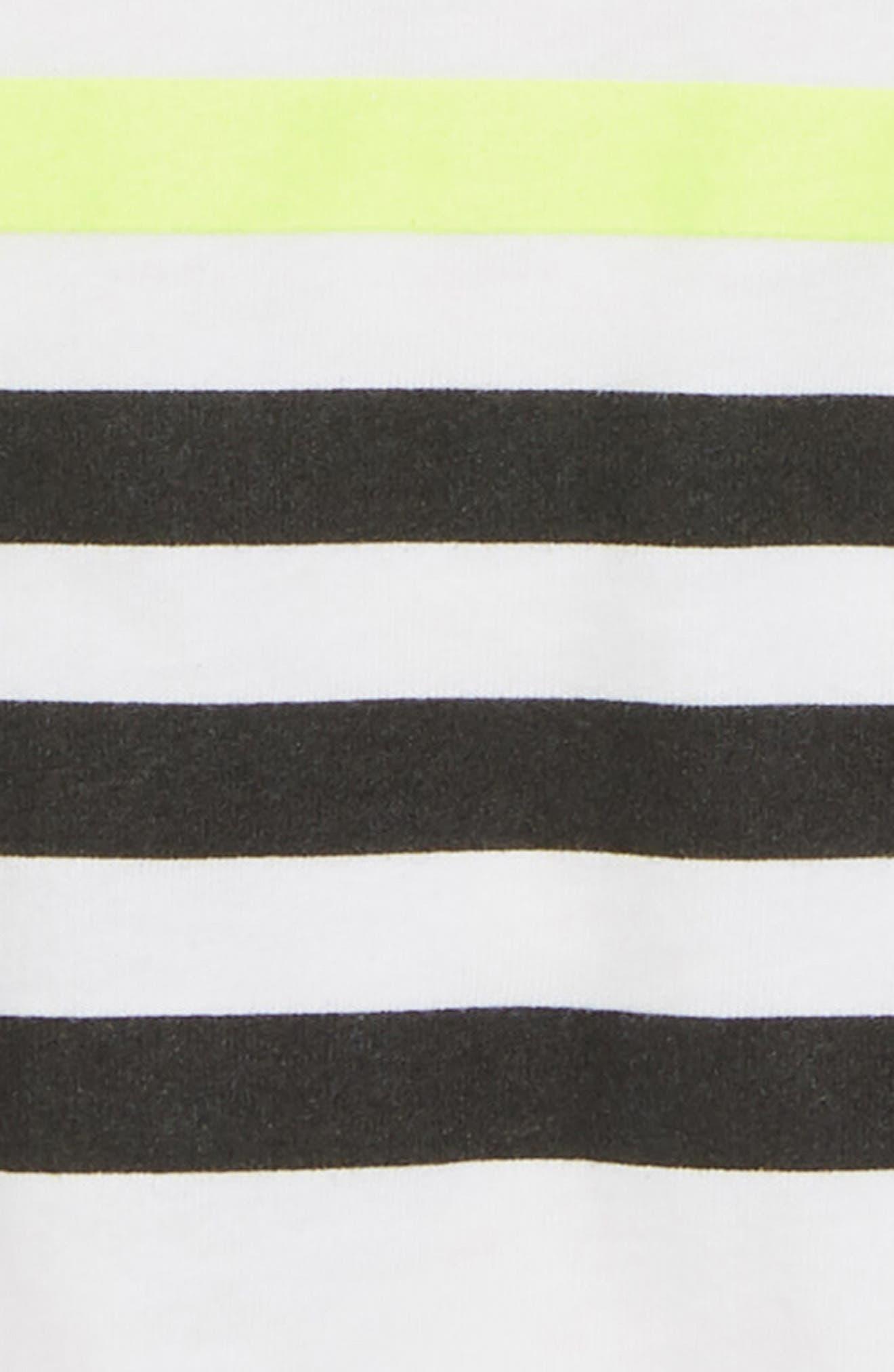 Stripe T-Shirt,                             Alternate thumbnail 2, color,                             WHITE