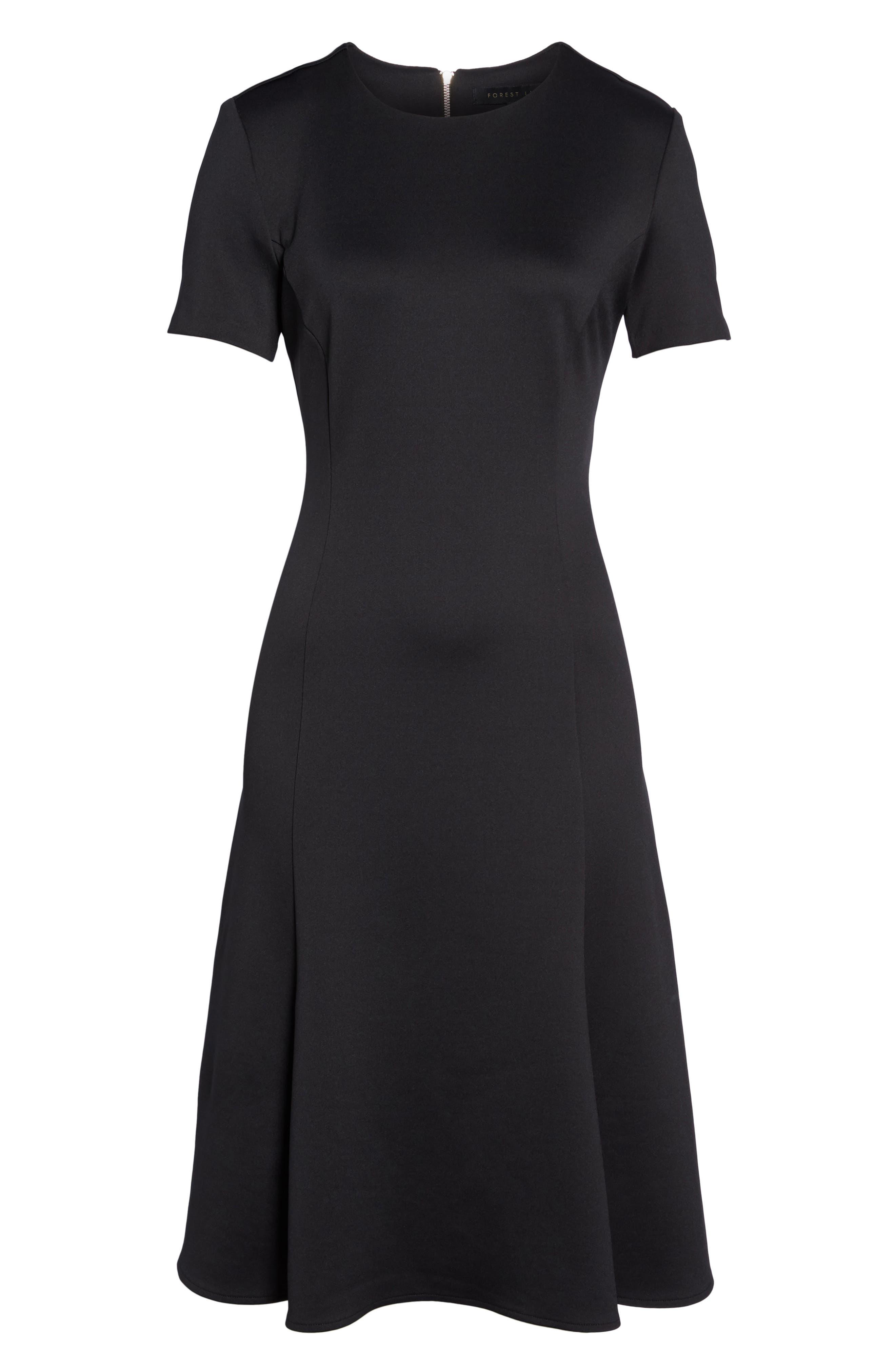 Midi Bell Dress,                             Alternate thumbnail 6, color,                             001
