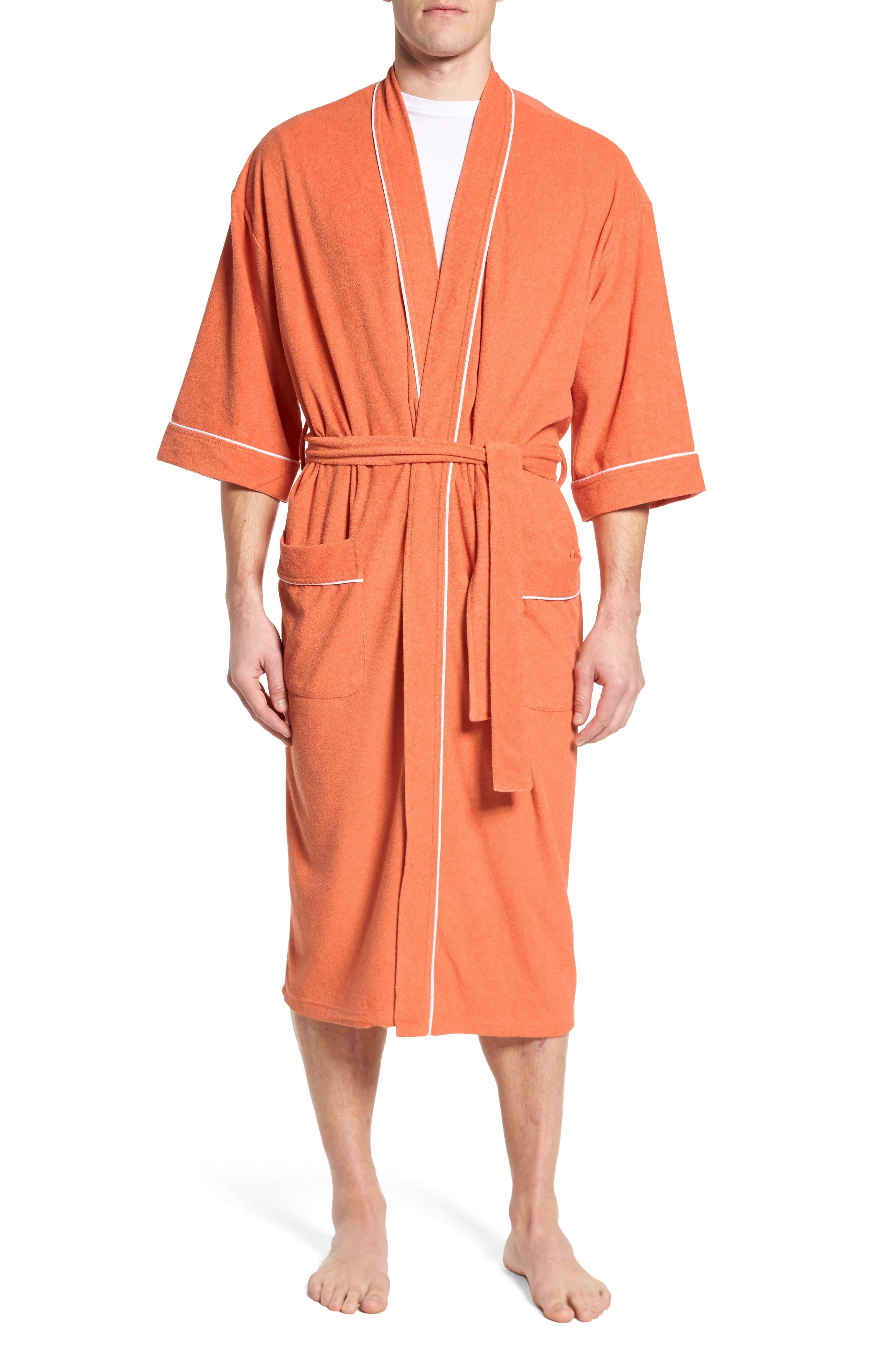 Kimono Cotton Blend Robe,                             Main thumbnail 2, color,