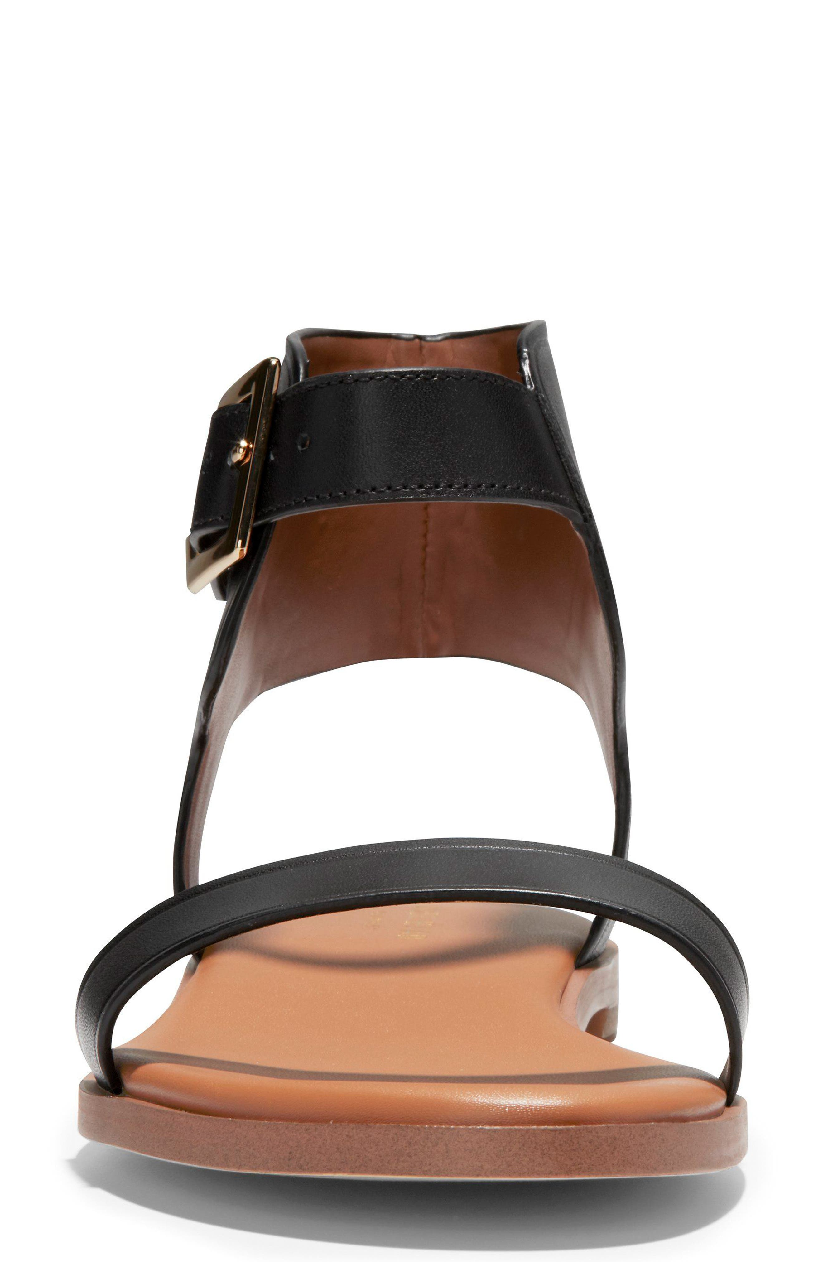COLE HAAN,                             Anica Cuffed Sandal,                             Alternate thumbnail 4, color,                             001