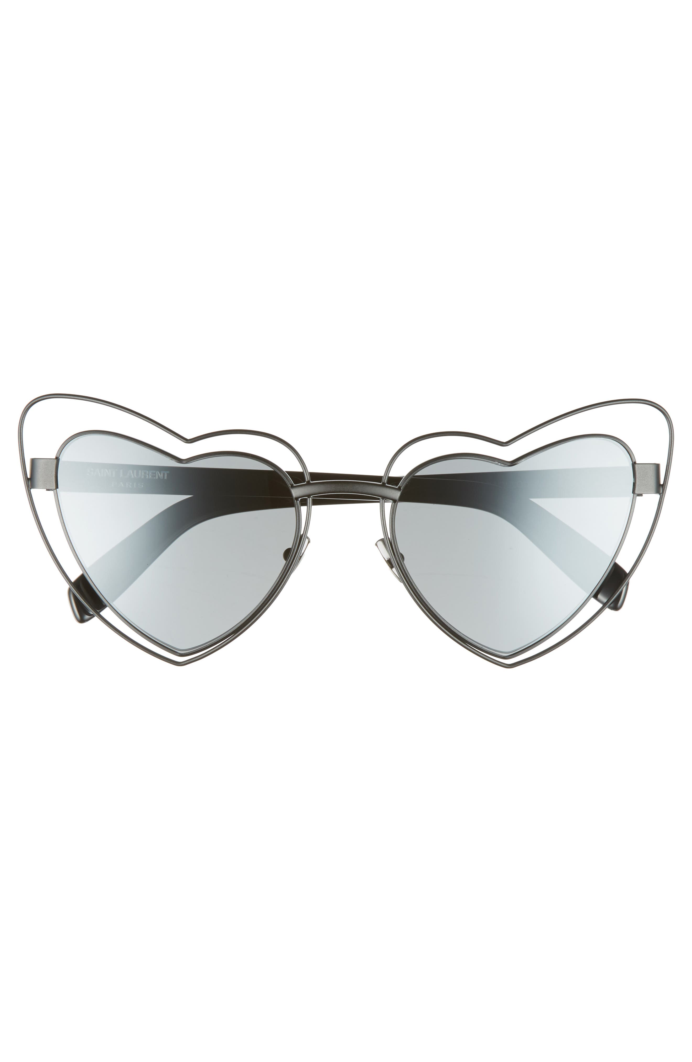 SL197 Loulou 57mm Heart Shaped Sunglasses,                             Alternate thumbnail 3, color,                             001
