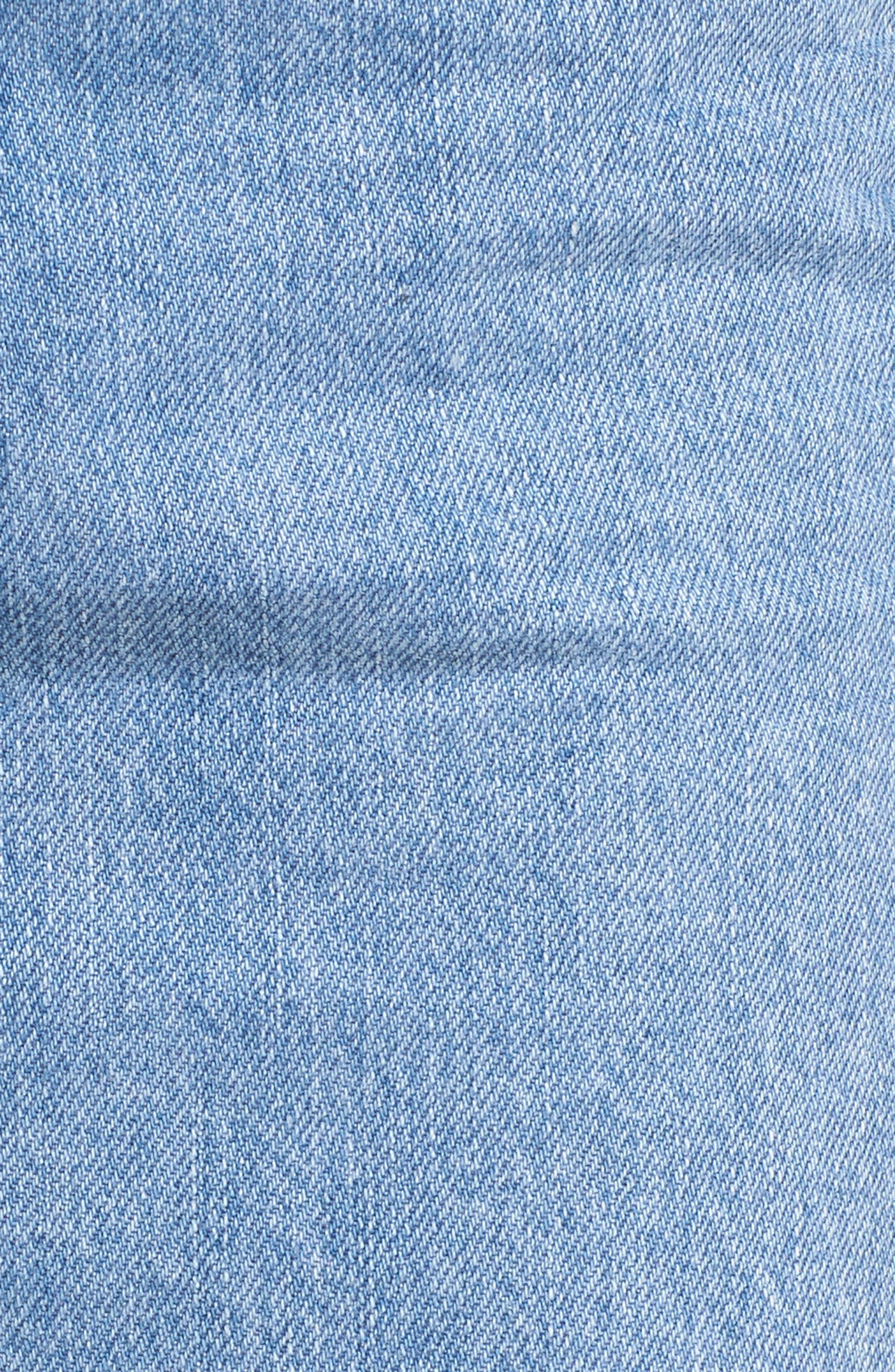 MOTO Stripe Denim Skirt,                             Alternate thumbnail 6, color,