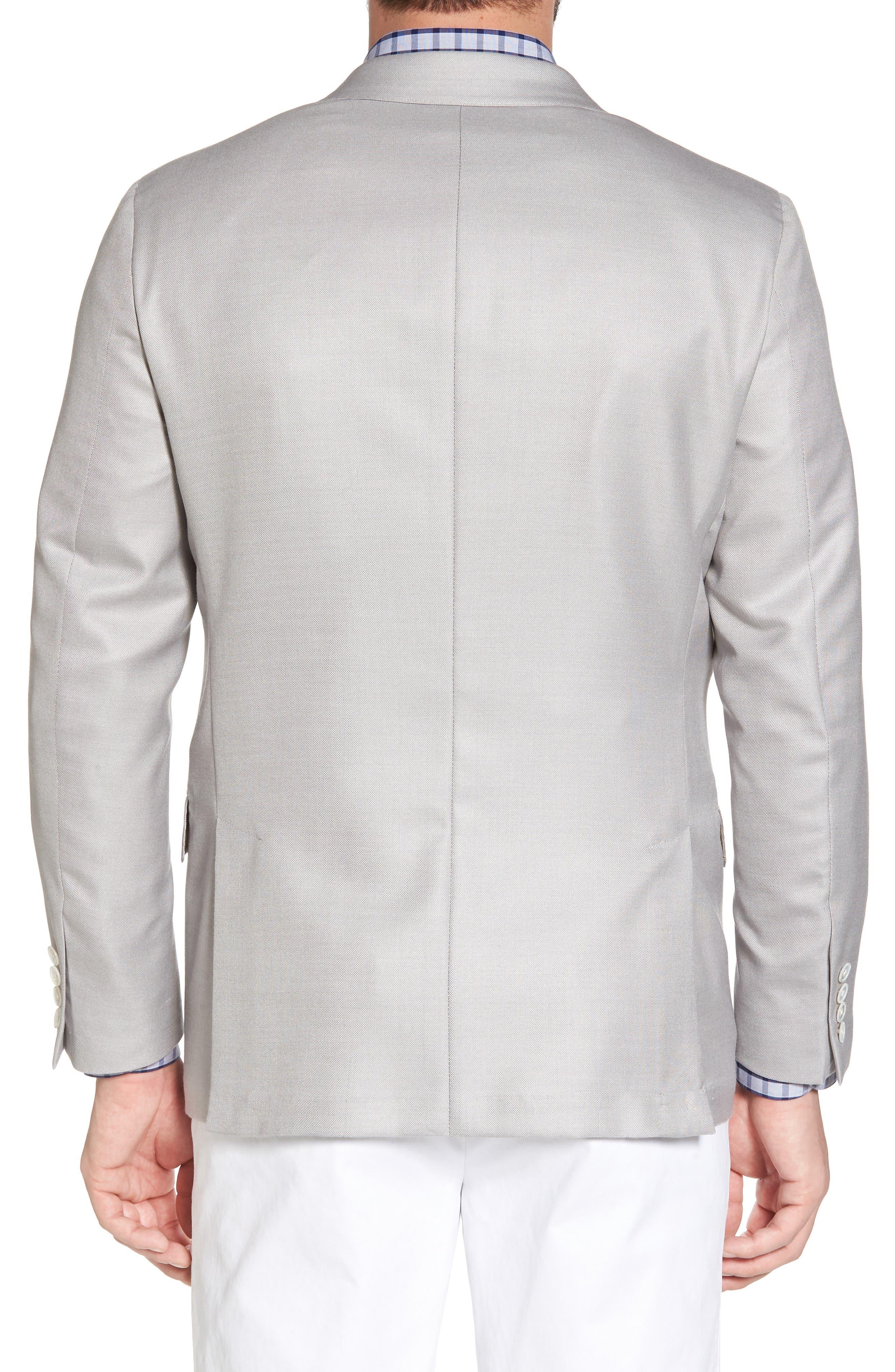 Classic B Fit Wool & Silk Blazer,                             Alternate thumbnail 2, color,
