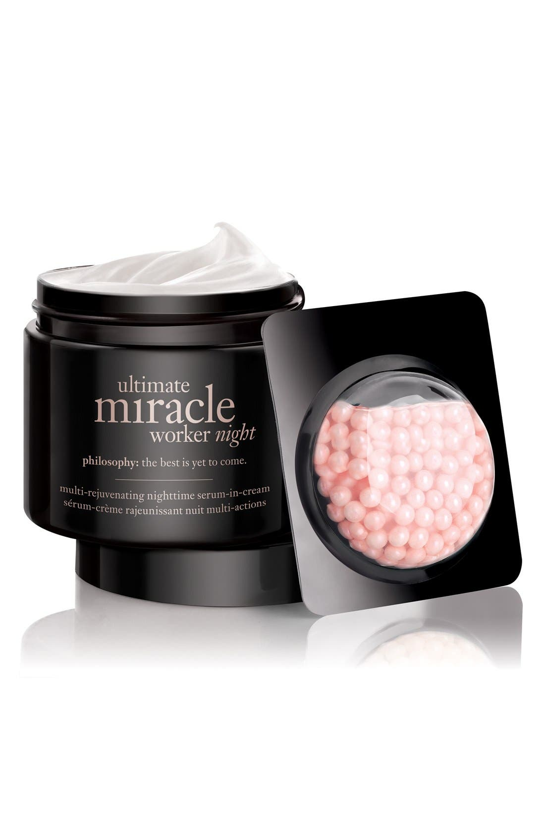 'ultimate miracle worker night' multi-rejuvenating nighttime serum-in-cream,                             Alternate thumbnail 4, color,                             NO COLOR